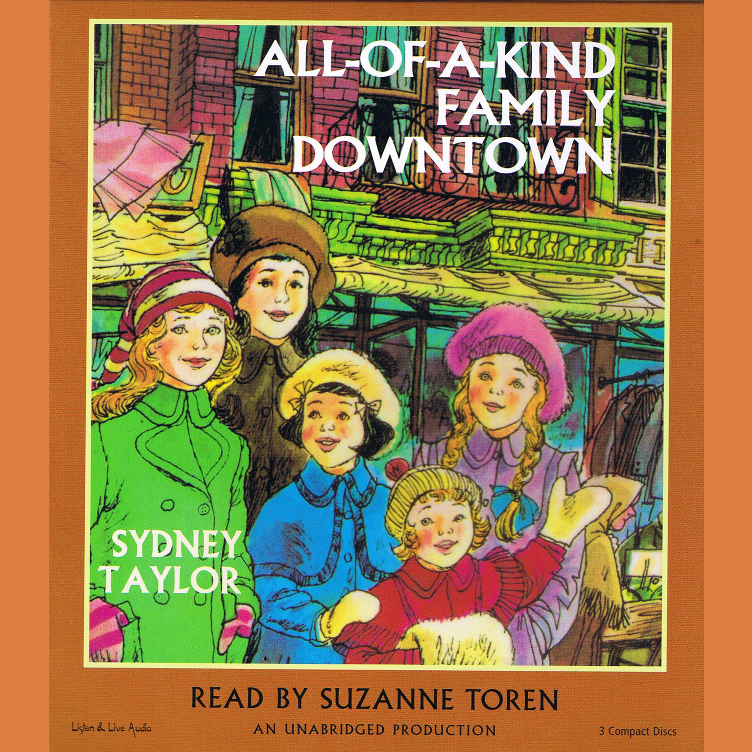 Printable All-of-a-Kind Family Downtown Audiobook Cover Art