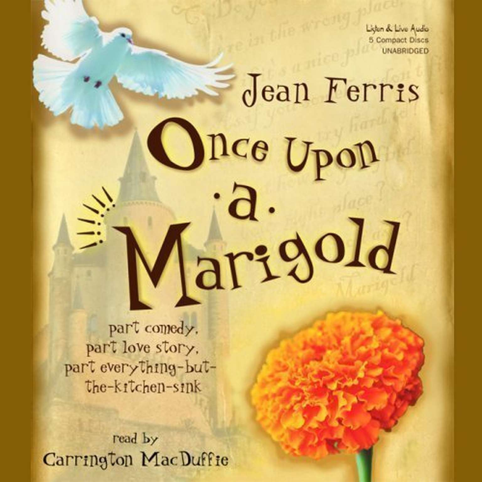 Printable Once upon a Marigold Audiobook Cover Art