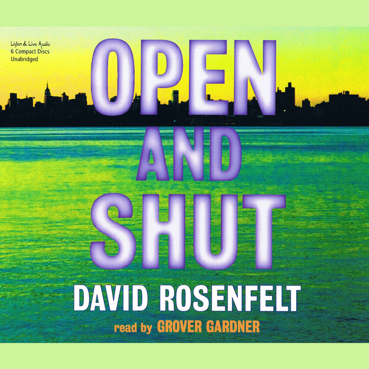 Printable Open and Shut Audiobook Cover Art