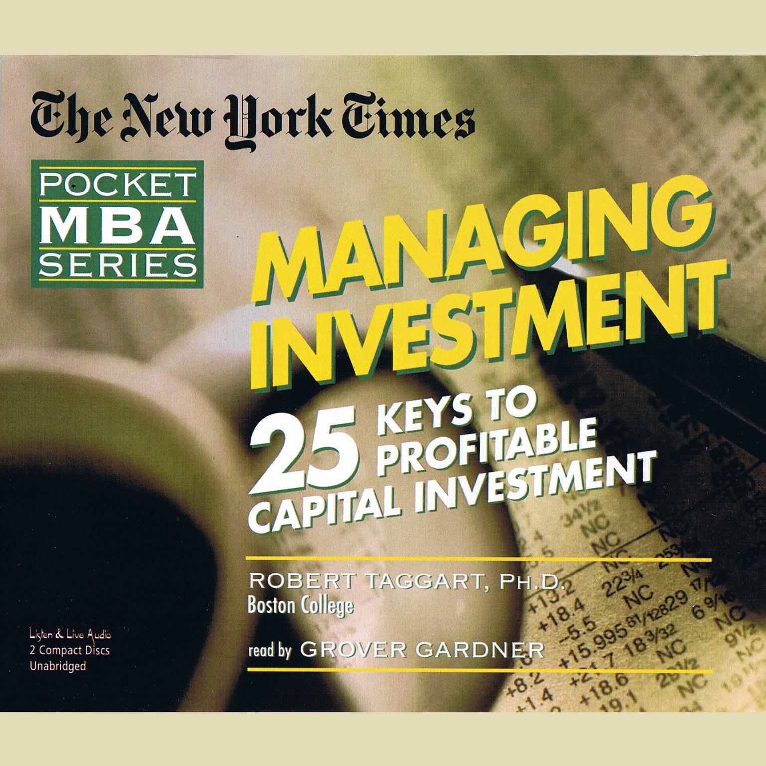 Printable Managing Investment: Twenty-five Keys to Profitable Capital Investment Audiobook Cover Art