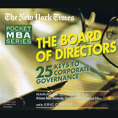 The Board of Directors Audiobook, by Marianne Jennings