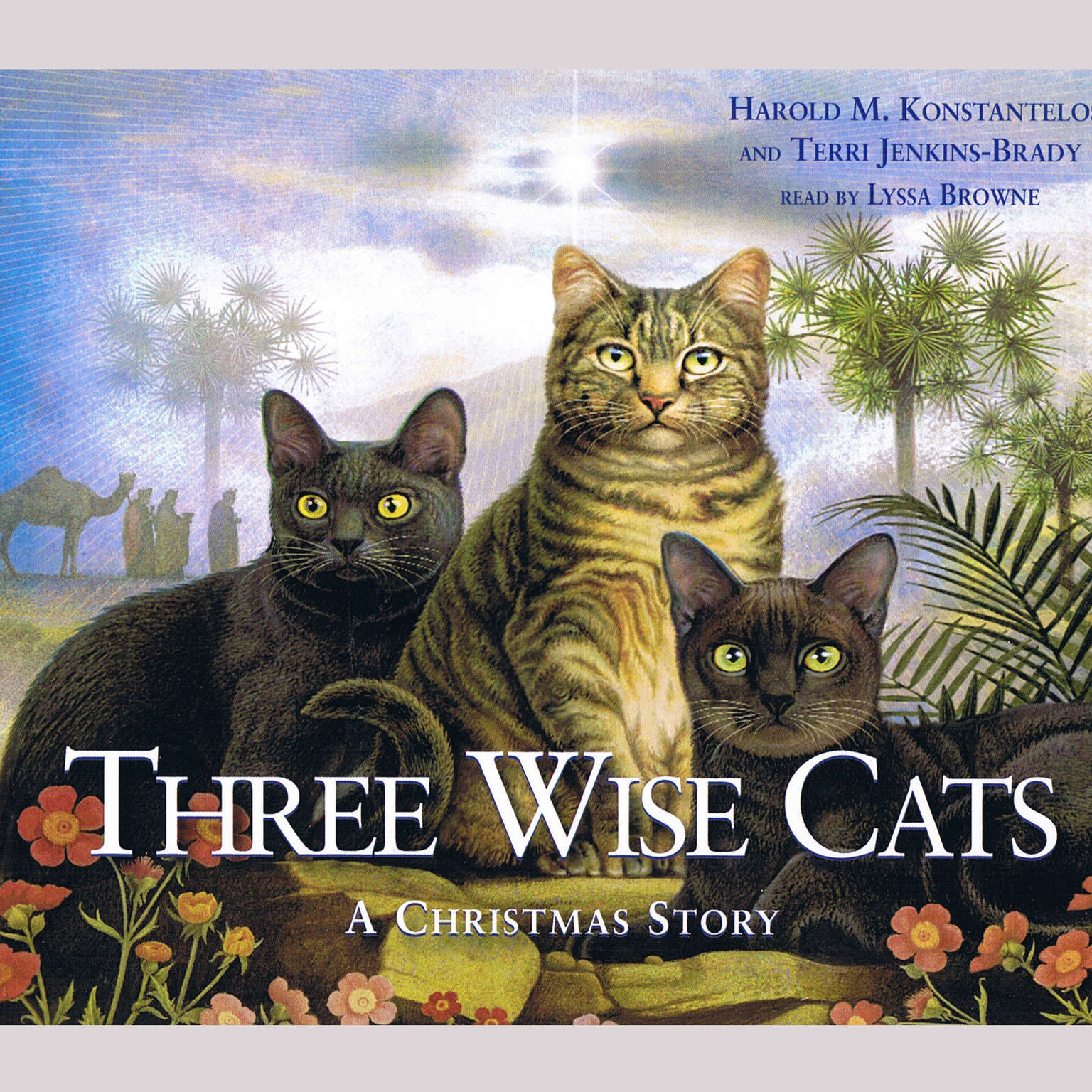 Printable Three Wise Cats: A Christmas Story Audiobook Cover Art