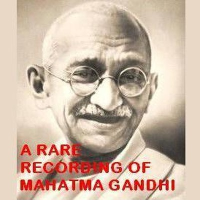 Printable A Rare Recording of Mahatma Gandhi Audiobook Cover Art