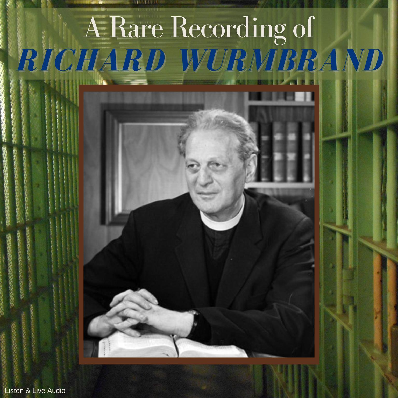 Printable A Rare Recording of Richard Wurmbrand Audiobook Cover Art