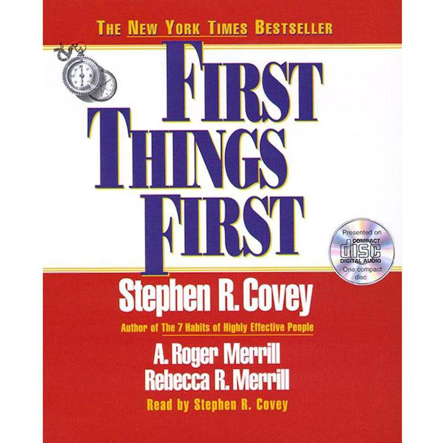 Printable First Things First Audiobook Cover Art