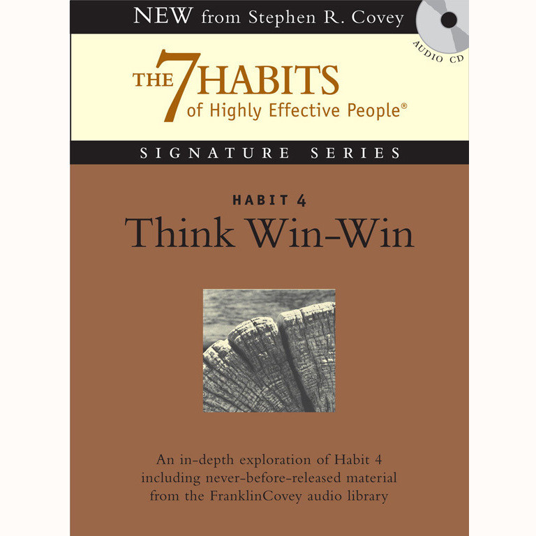 Printable Habit 4: Think Win-Win: The Habit of Mutual Benefit Audiobook Cover Art