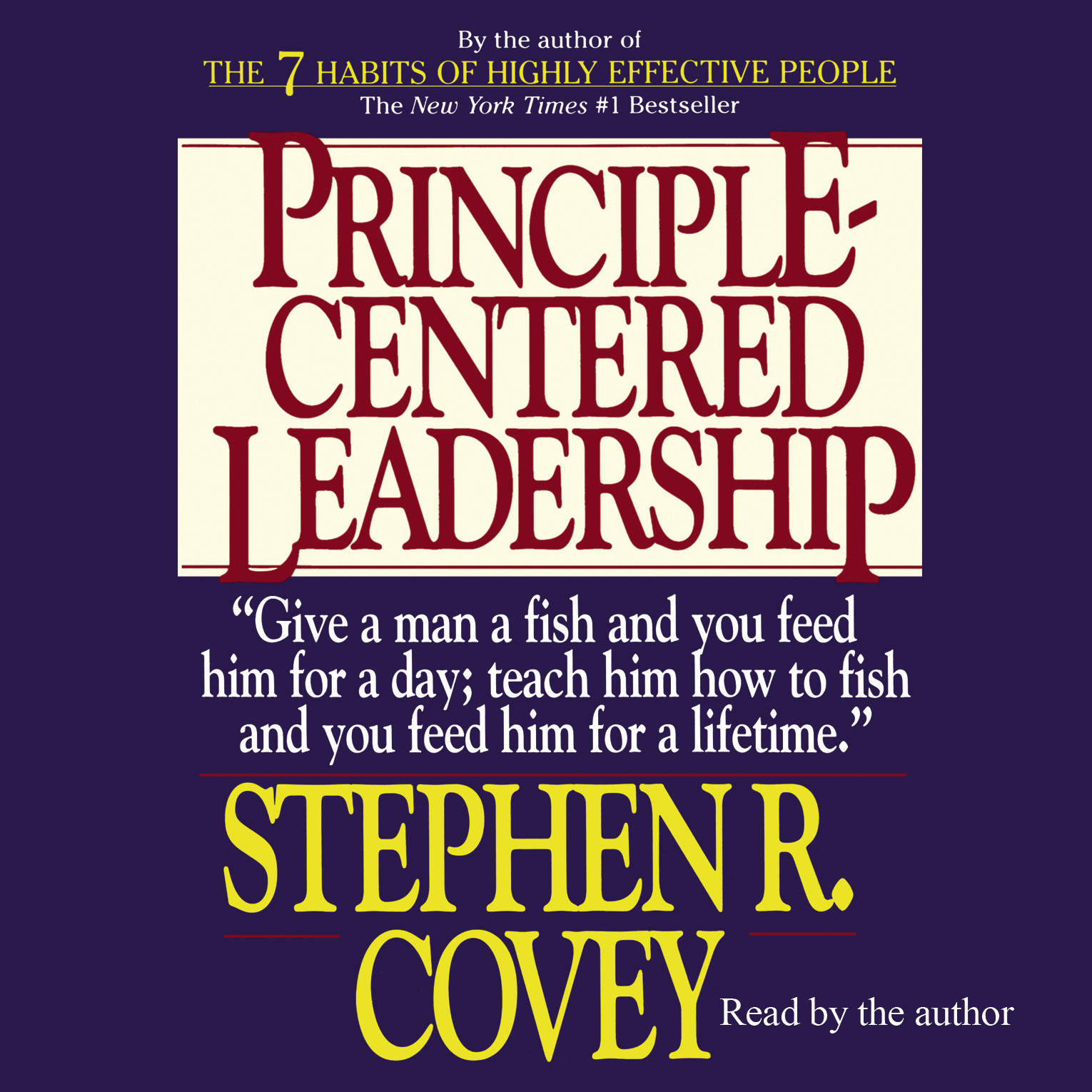 Printable Principle-Centered Leadership Audiobook Cover Art