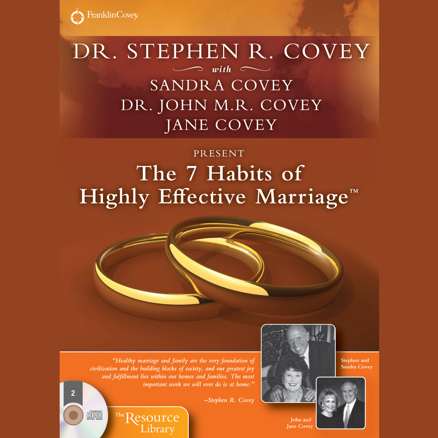 Printable The 7 Habits of Highly Effective Marriage Audiobook Cover Art