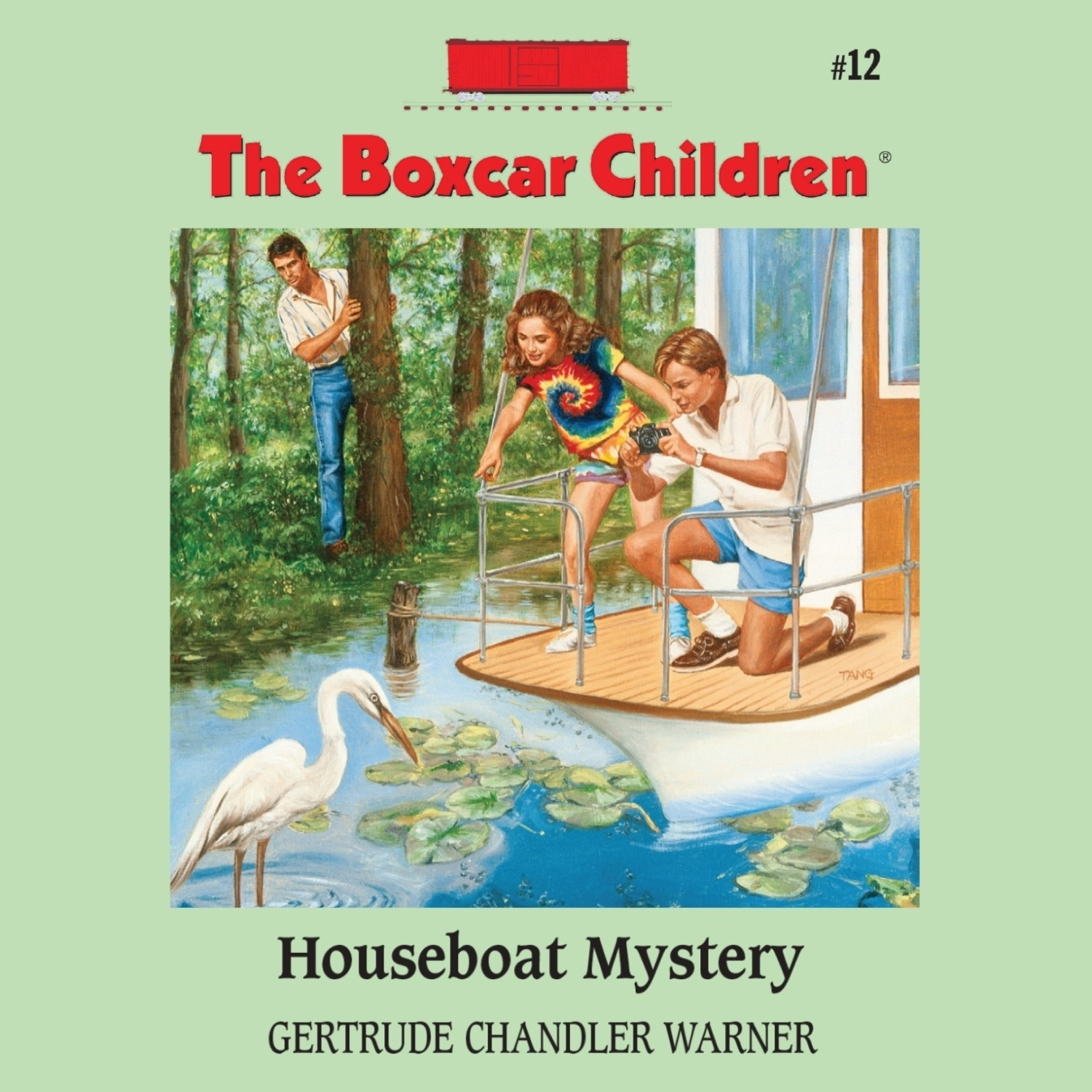 Printable Houseboat Mystery Audiobook Cover Art