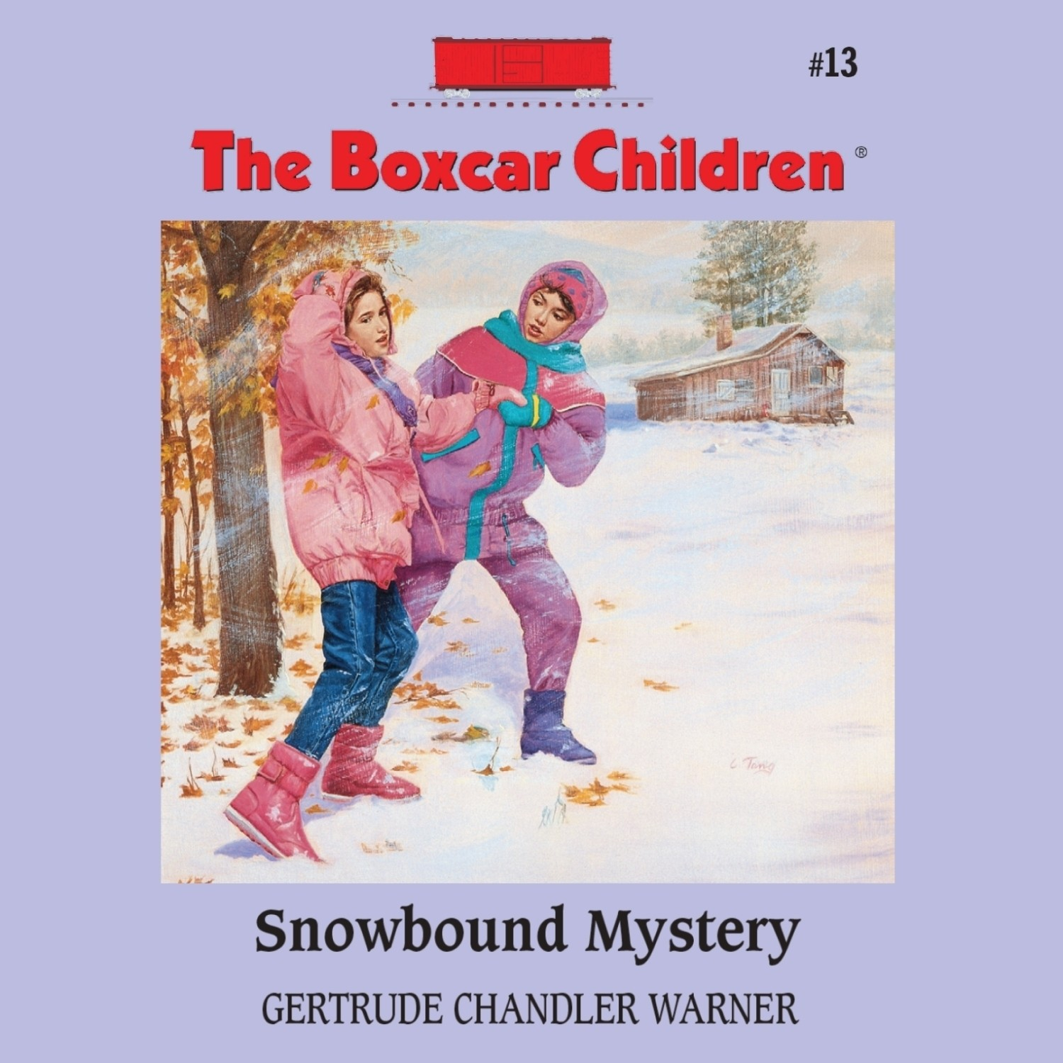 Printable Snowbound Mystery Audiobook Cover Art