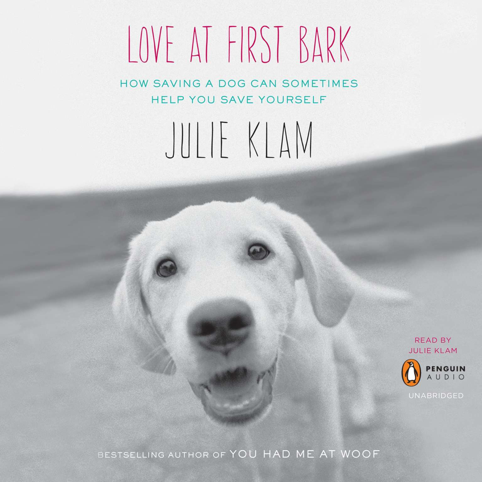 Printable Love at First Bark: How Saving a Dog Can Sometimes Help You Save Yourself Audiobook Cover Art