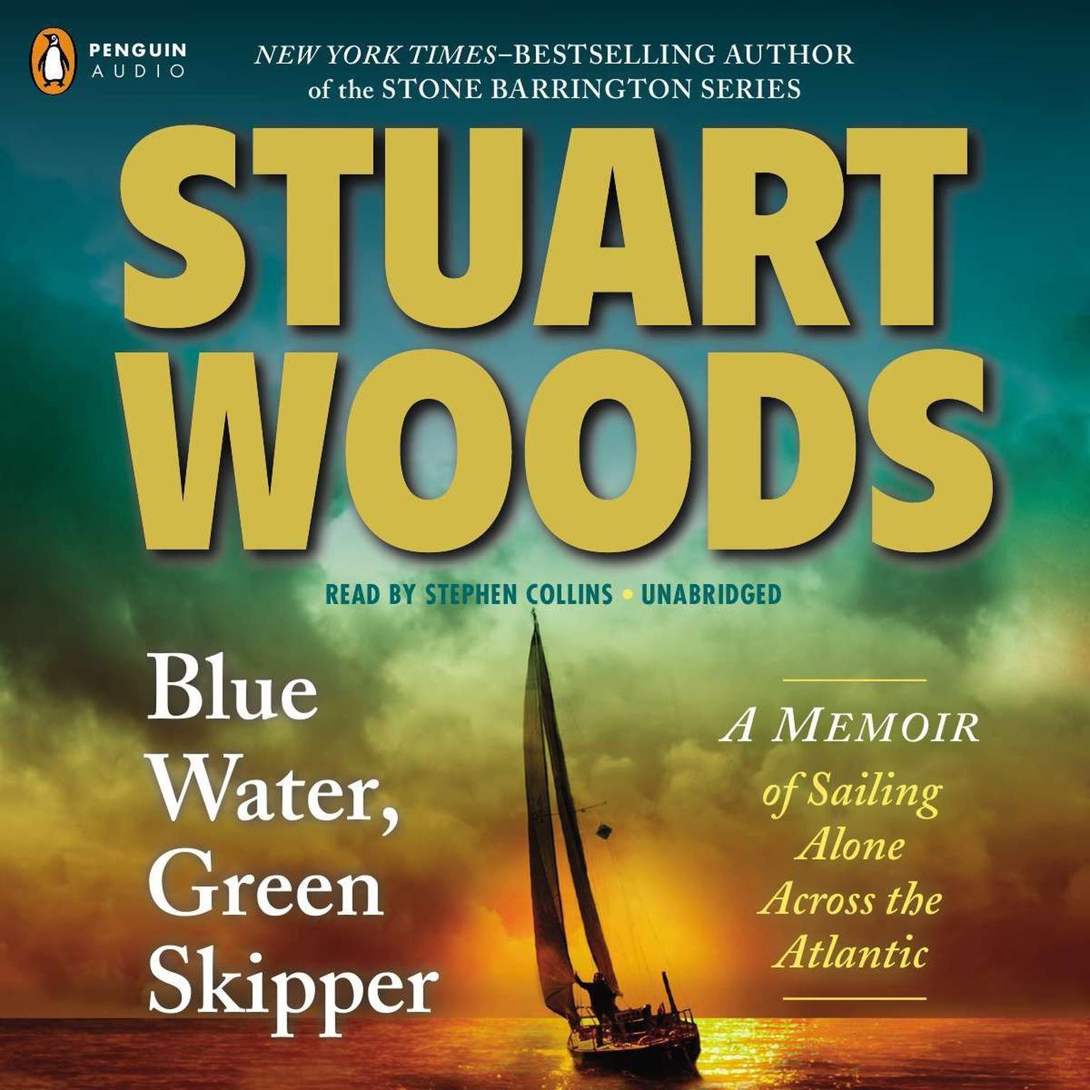 Printable Blue Water, Green Skipper: A Memoir of Sailing Alone Across the Atlantic Audiobook Cover Art
