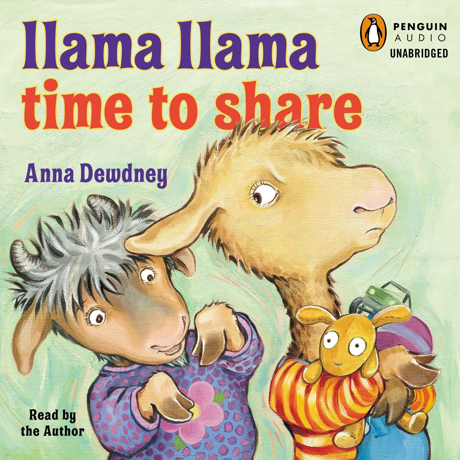 Printable Llama Llama Time to Share Audiobook Cover Art