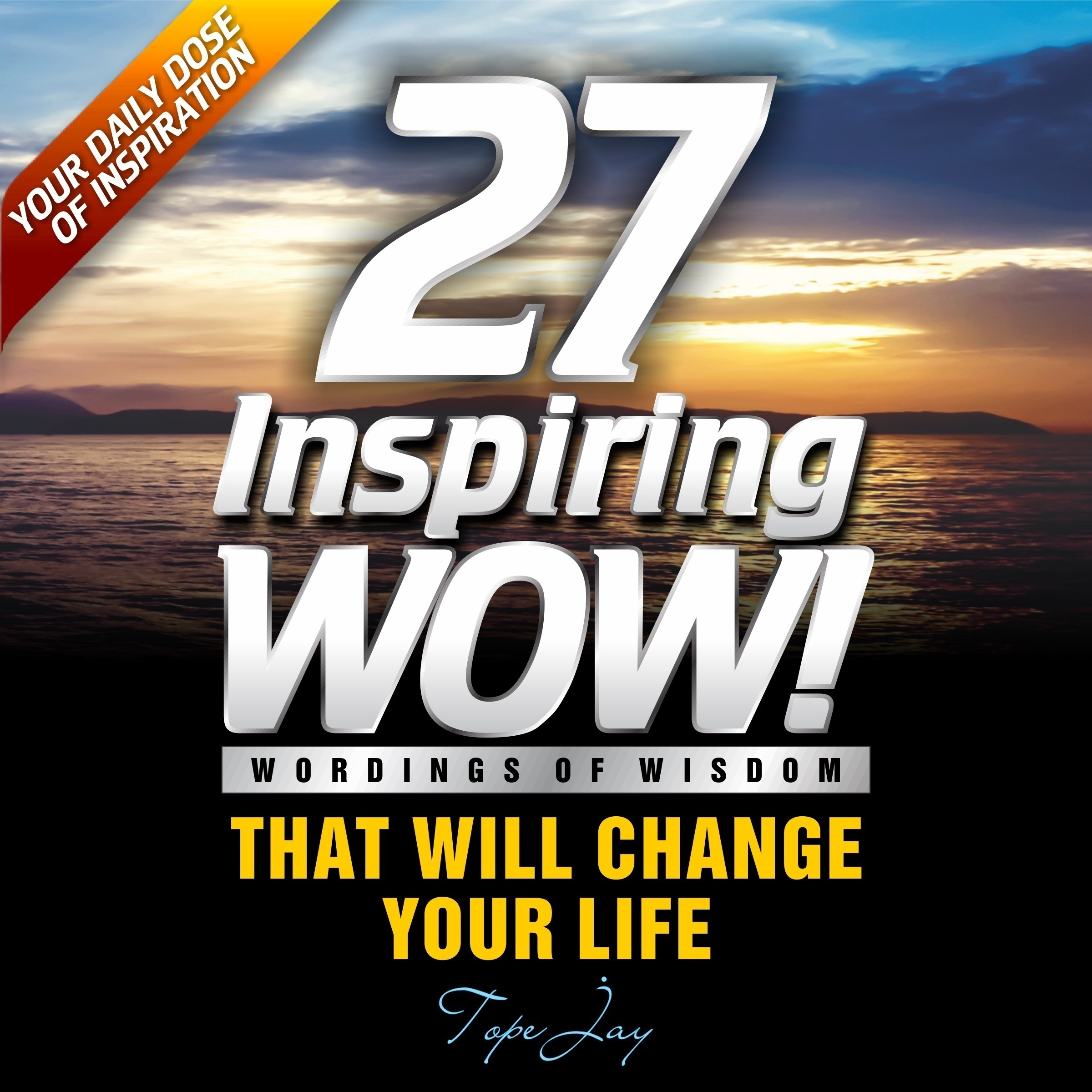 Printable 27 Inspiring Wordings of wisdom Audiobook Cover Art