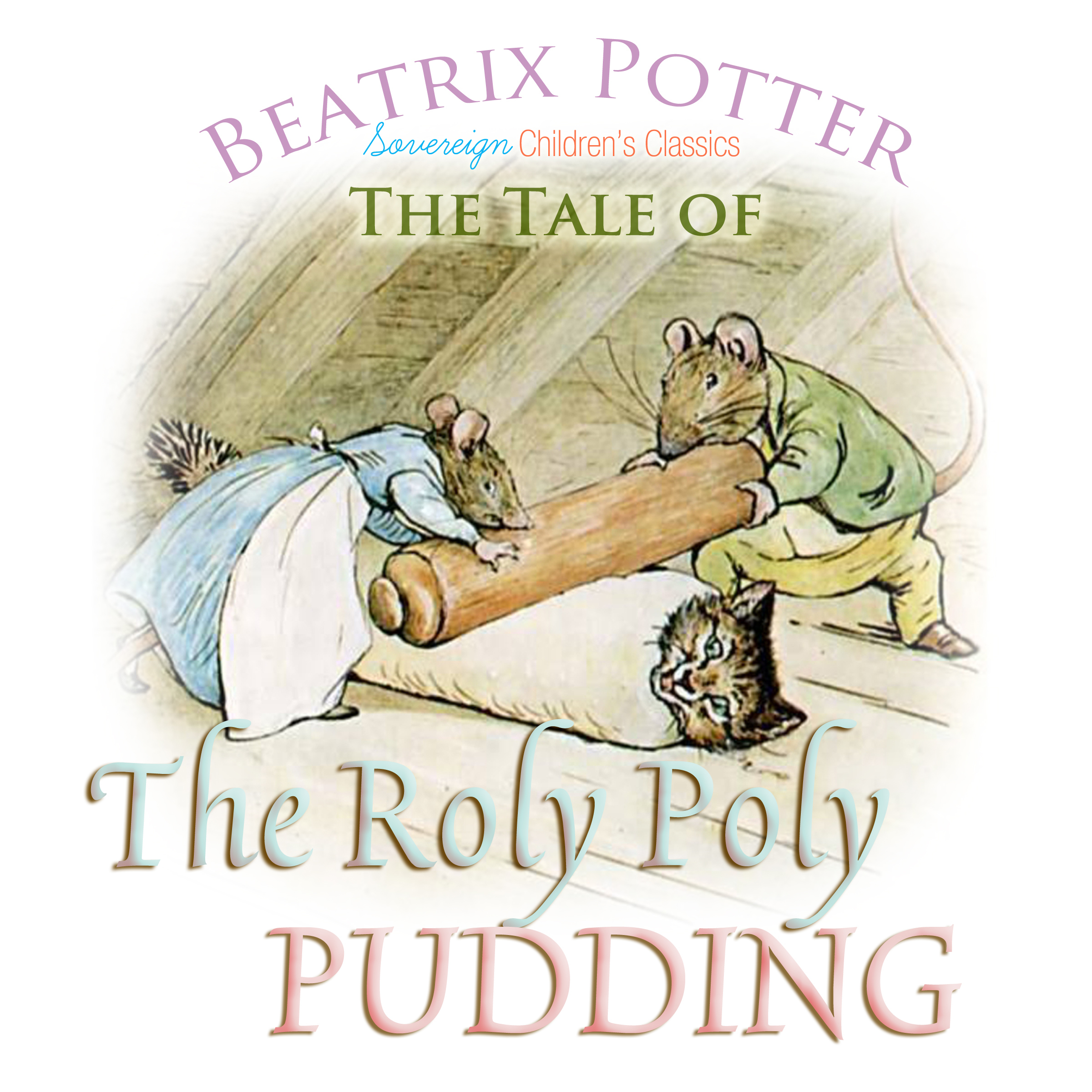 Printable The Roly Poly Pudding Audiobook Cover Art