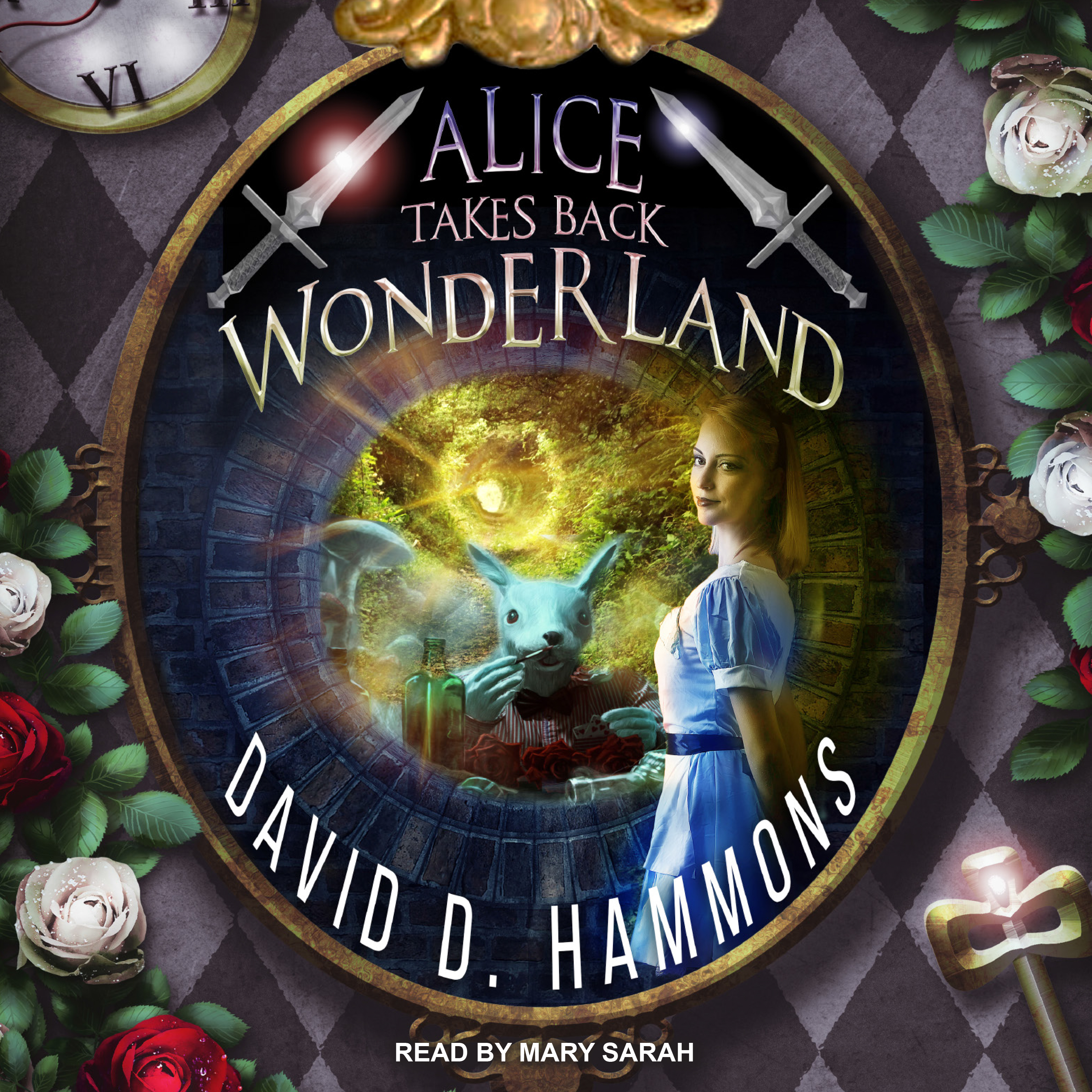 Printable Alice Takes Back Wonderland Audiobook Cover Art