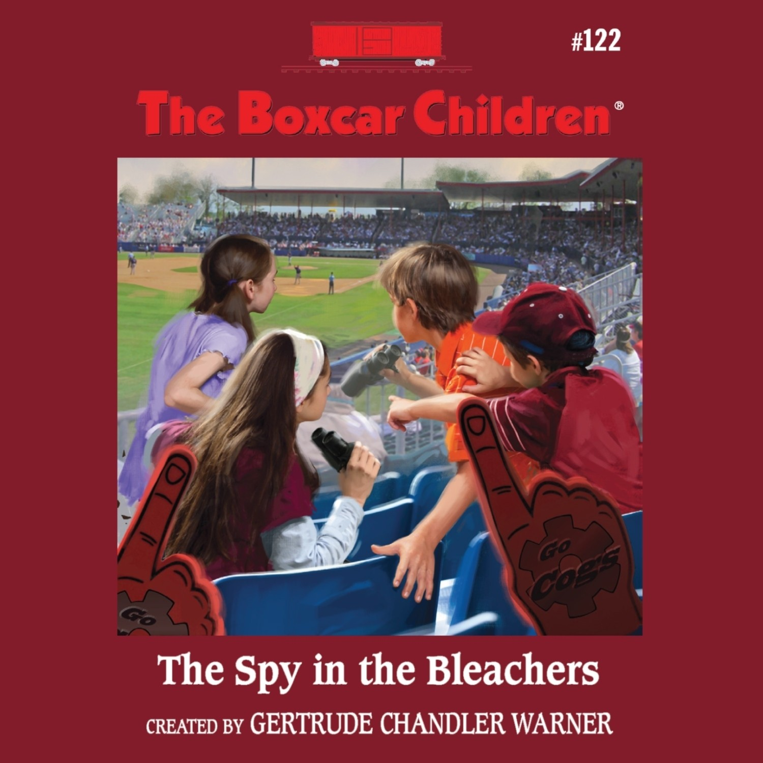 Printable The Spy in the Bleachers Audiobook Cover Art
