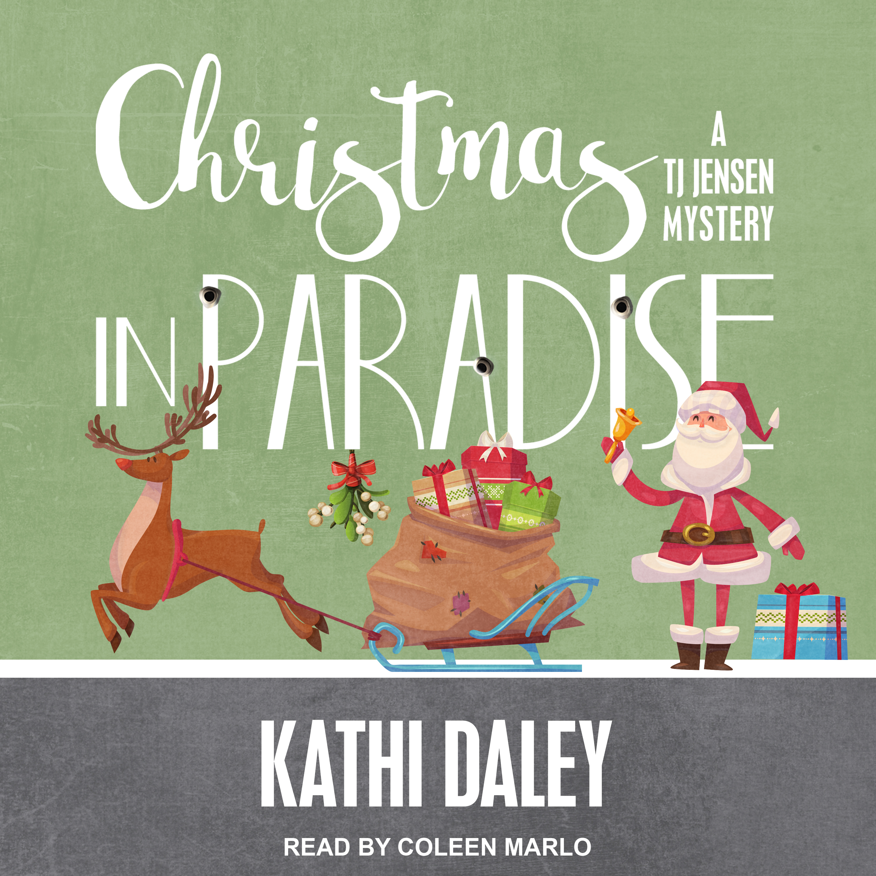 Printable Christmas in Paradise Audiobook Cover Art