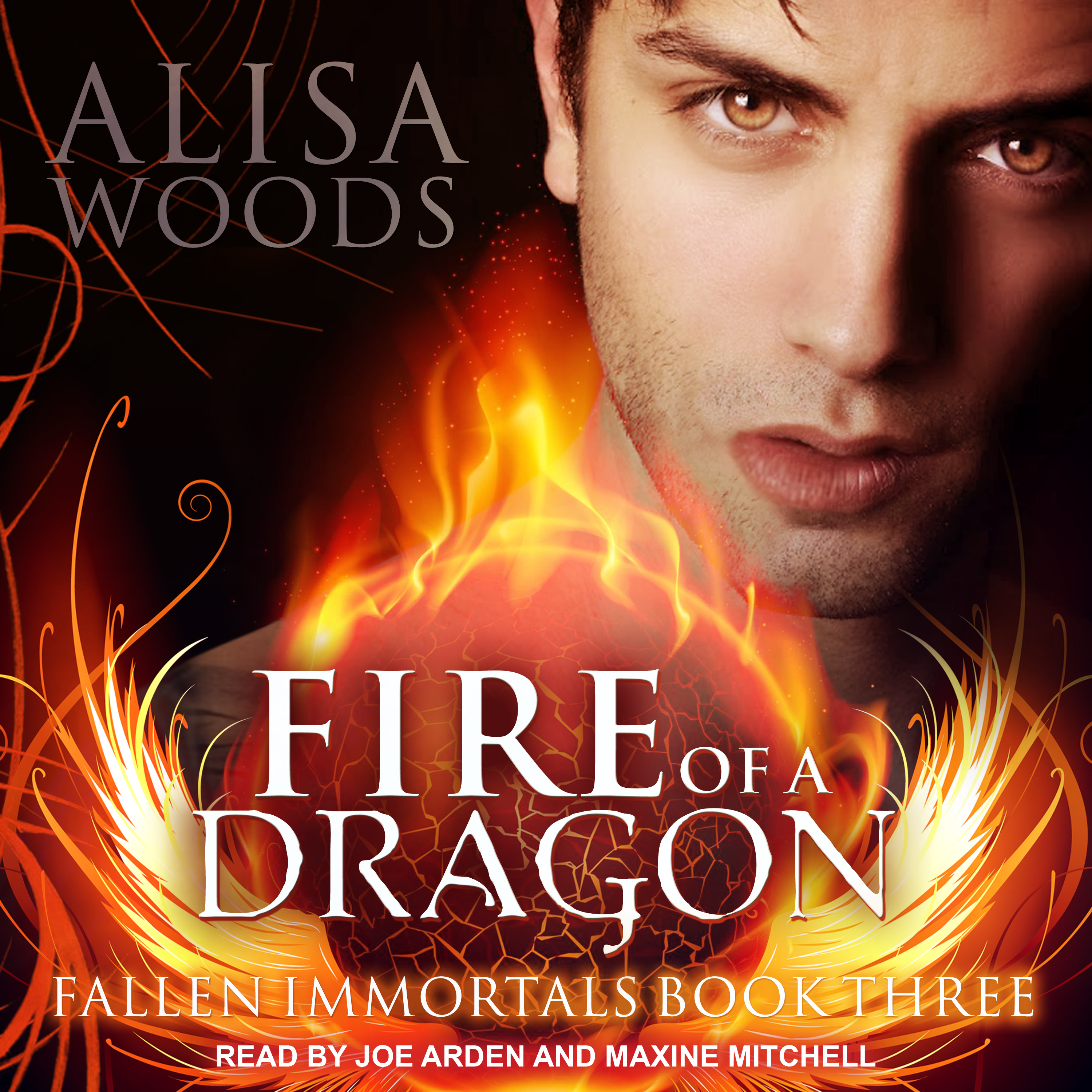 Printable Fire of a Dragon Audiobook Cover Art