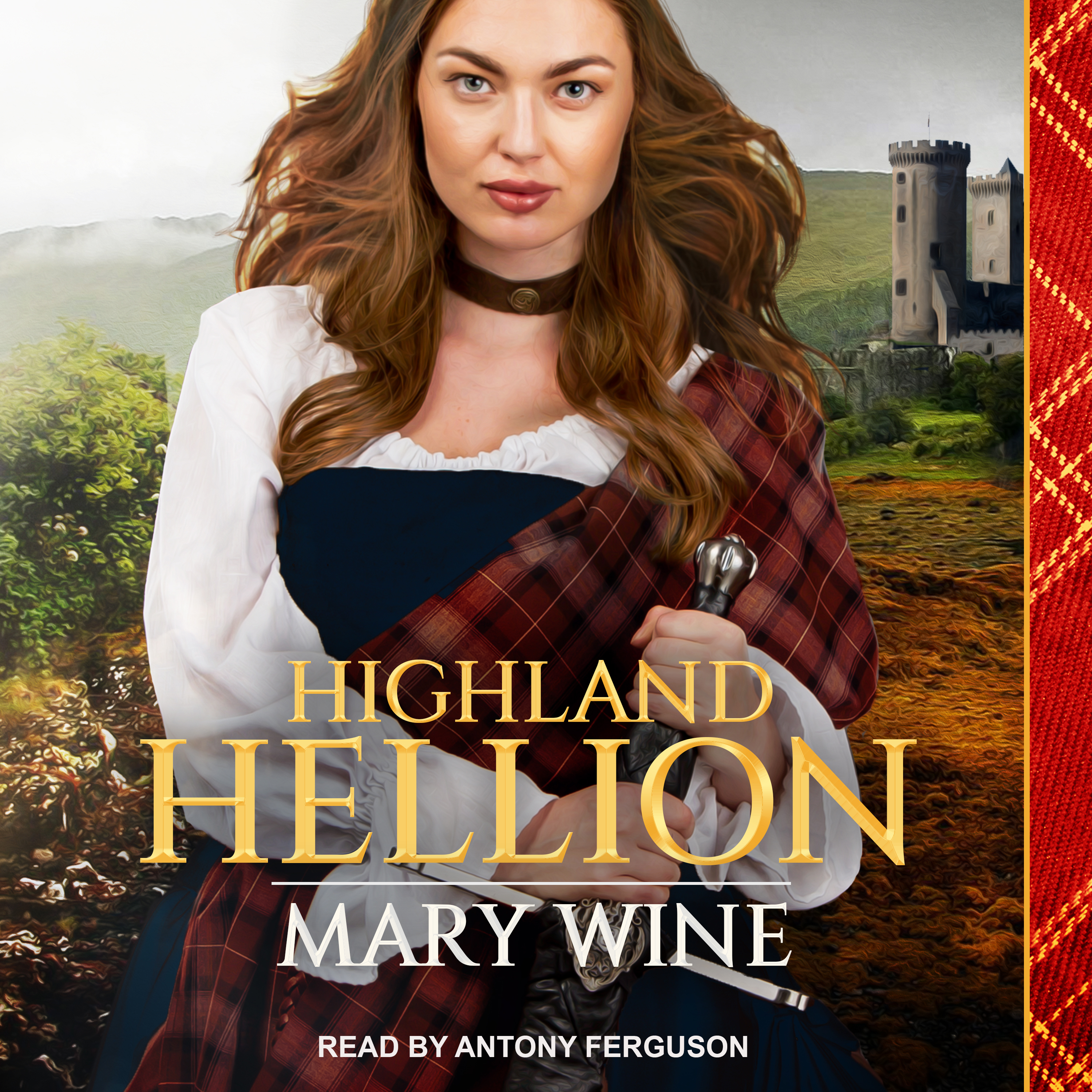 Printable Highland Hellion Audiobook Cover Art