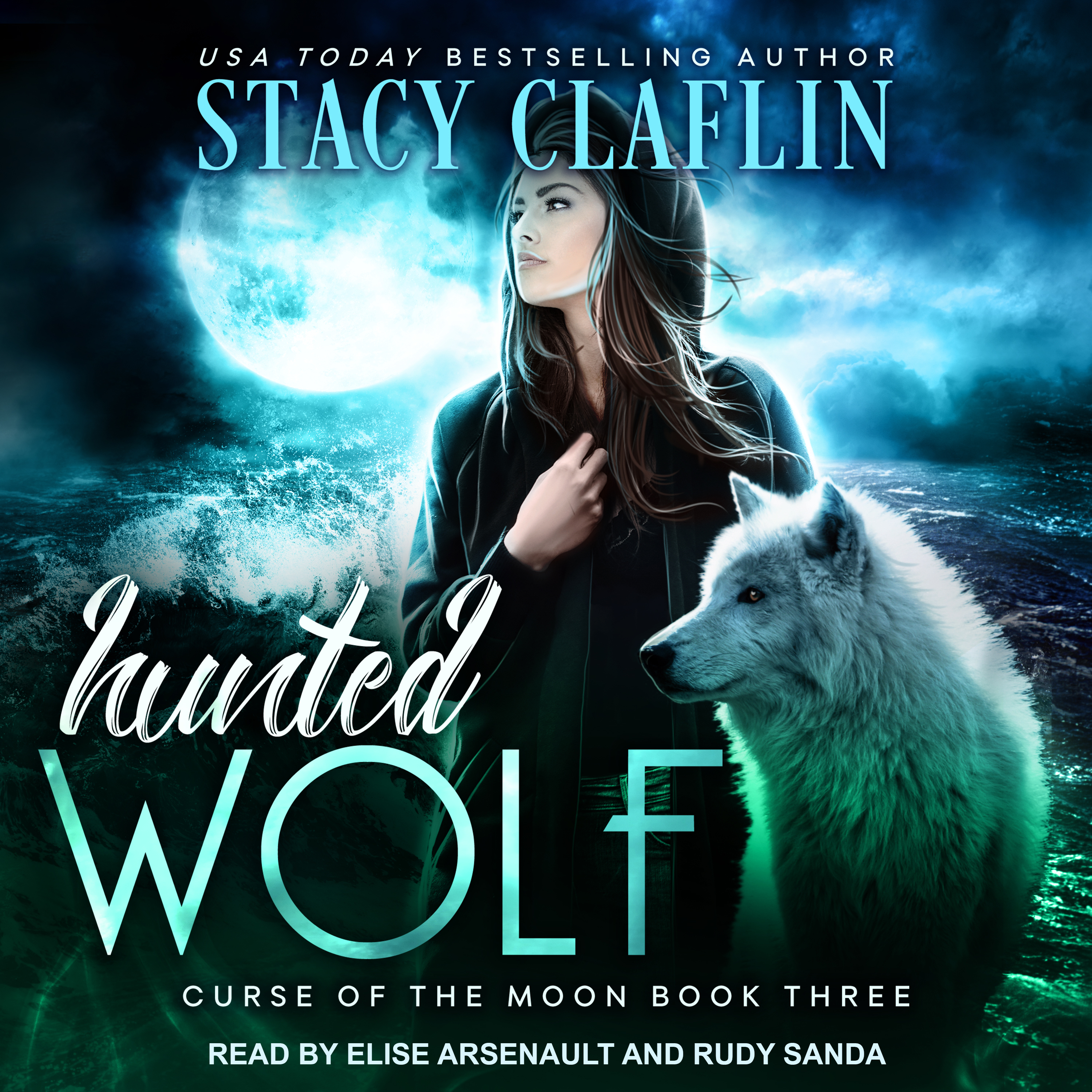 Printable Hunted Wolf Audiobook Cover Art