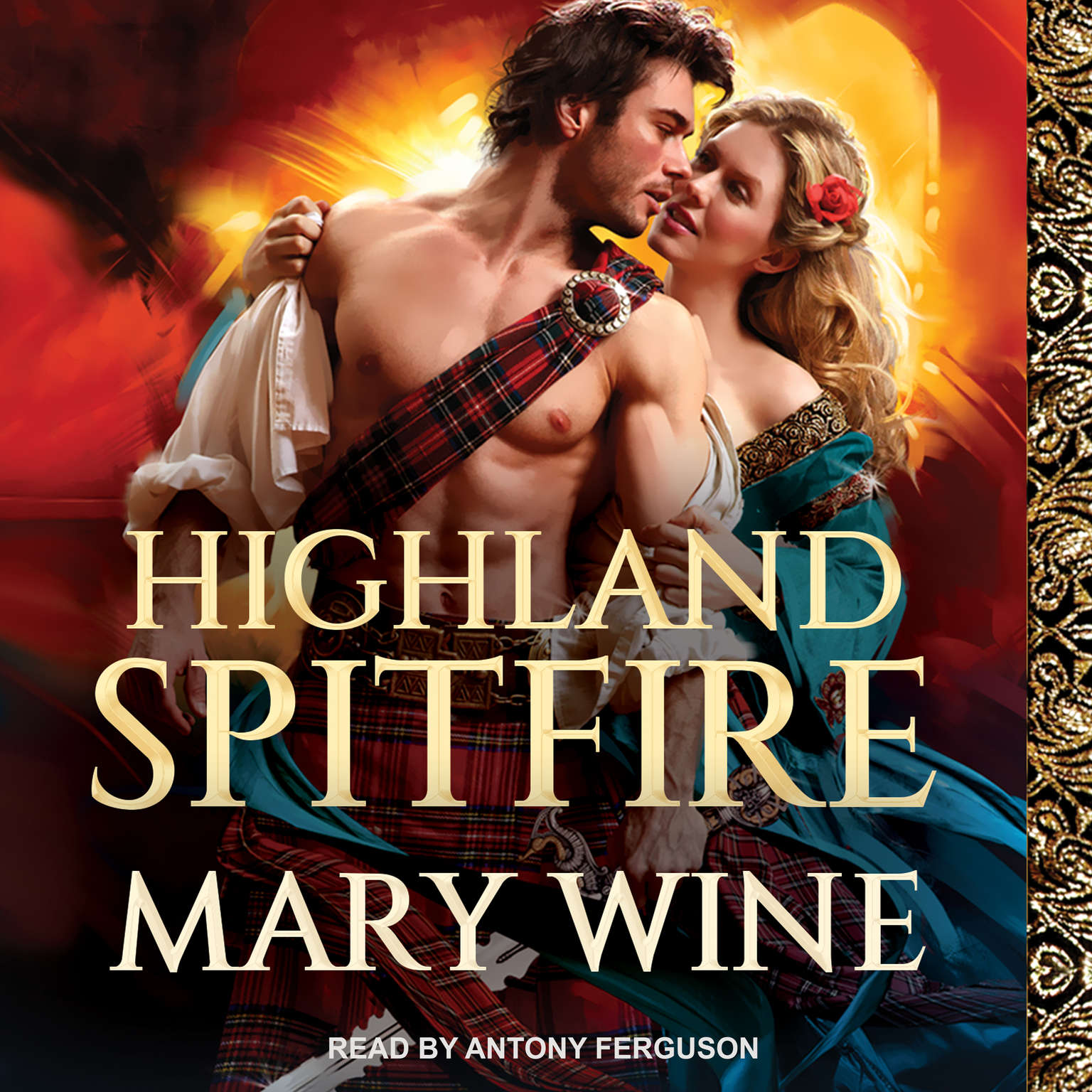 Highland Spitfire Audiobook, by Mary Wine