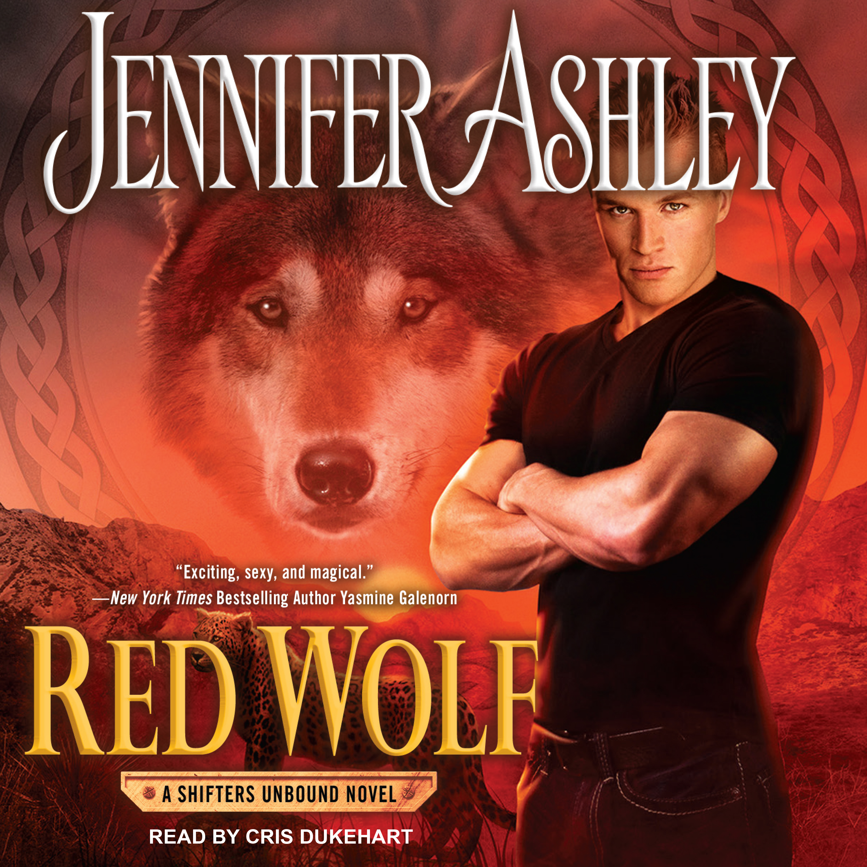 Printable Red Wolf Audiobook Cover Art