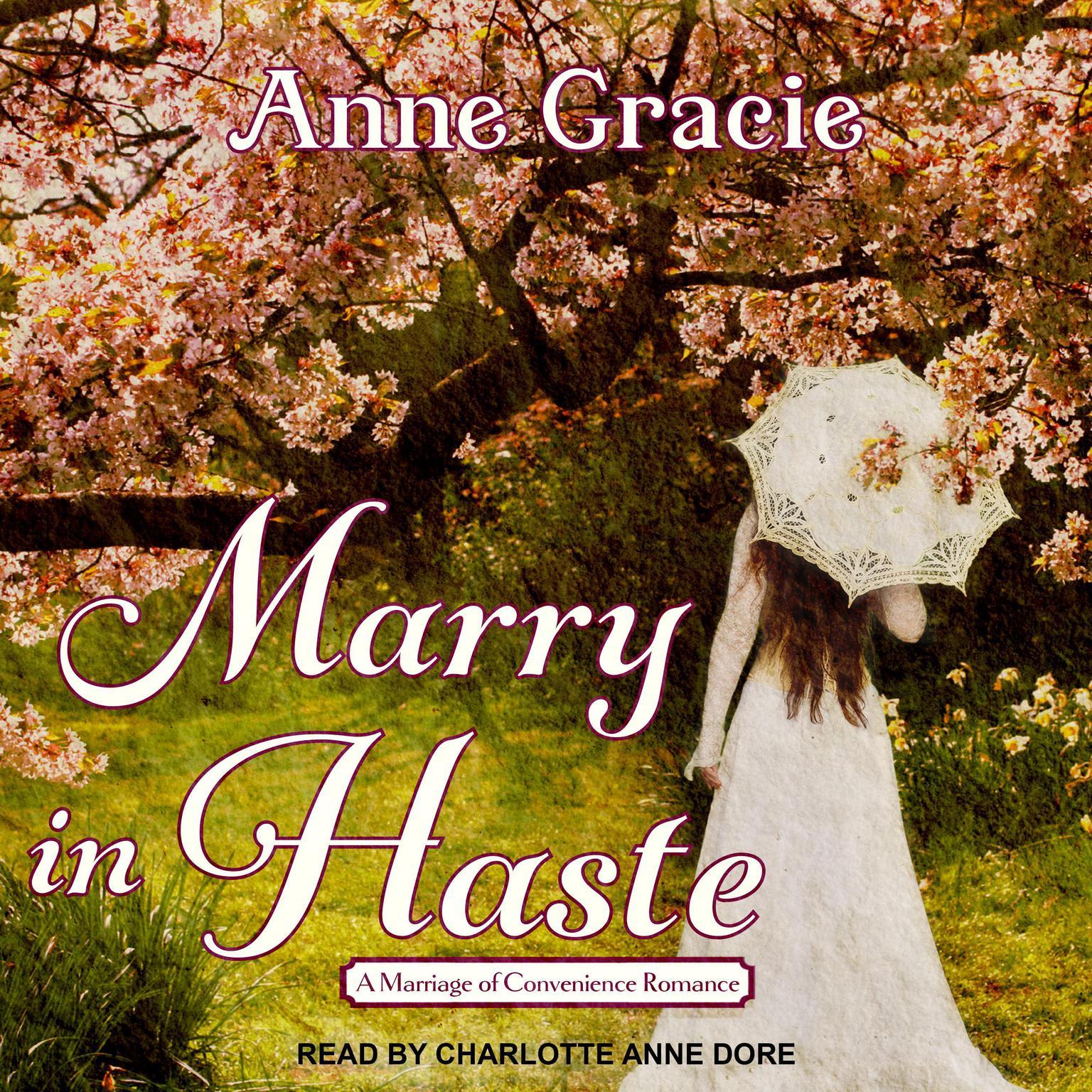 Printable Marry In Haste  Audiobook Cover Art