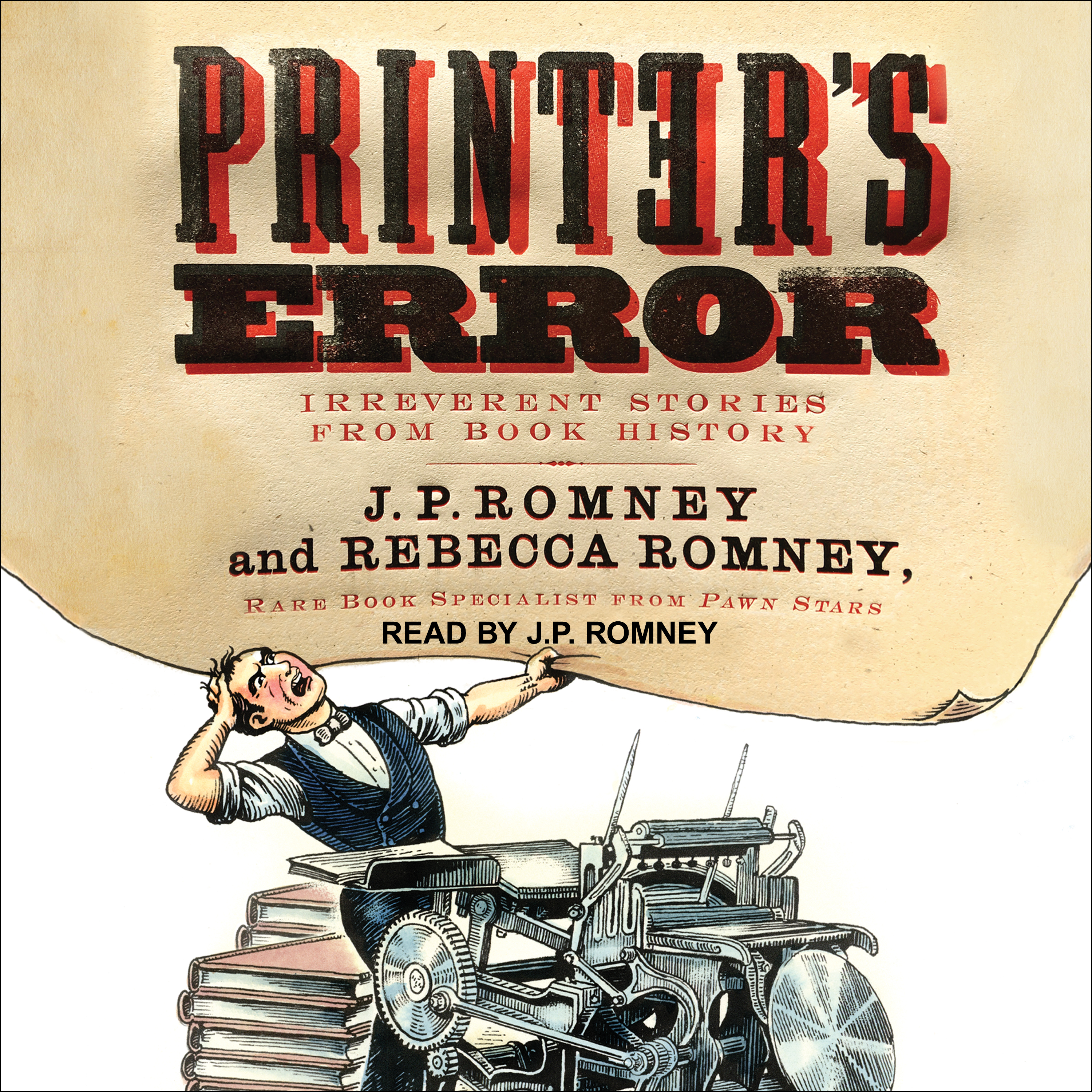 Printable Printer's Error: Irreverent Stories from Book History Audiobook Cover Art