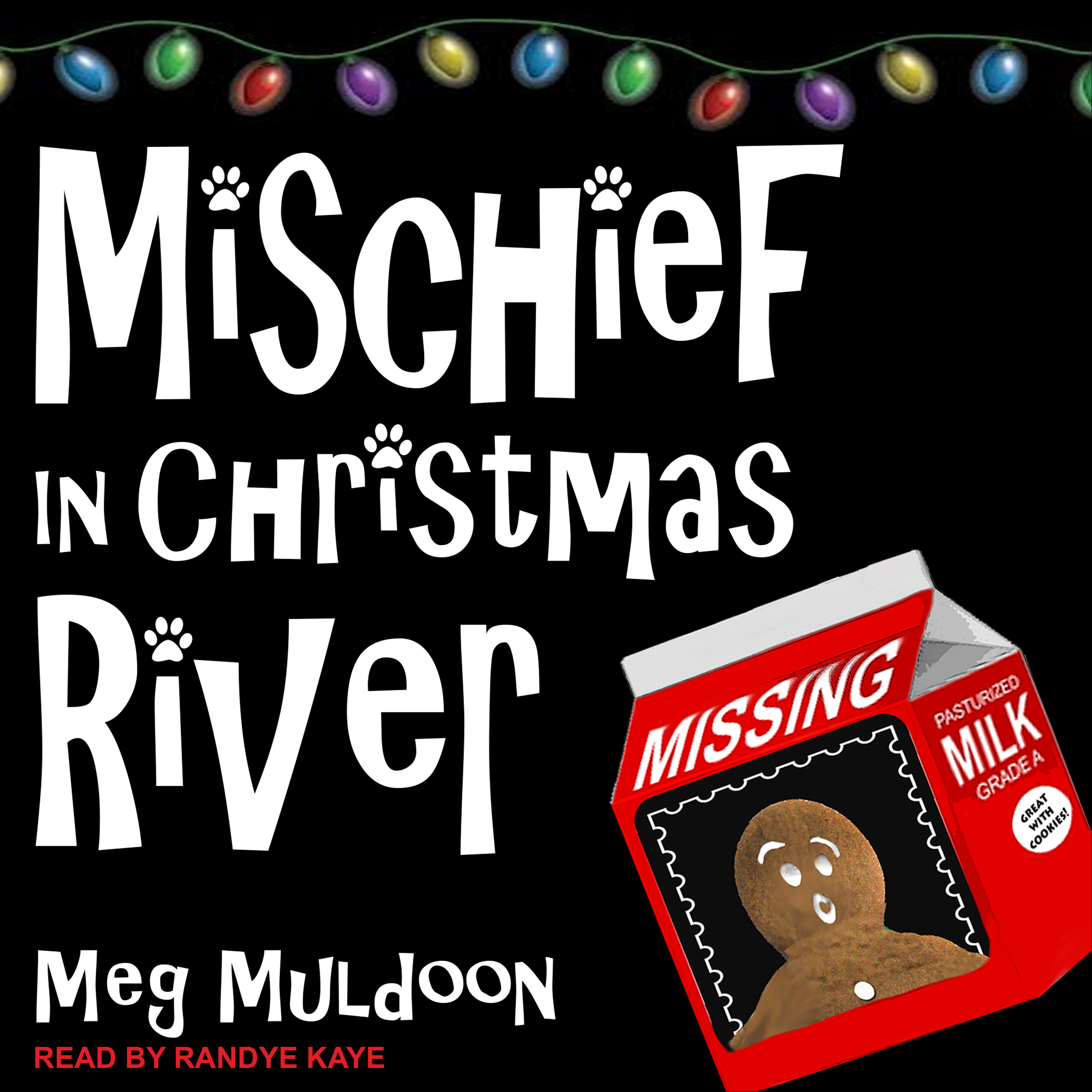 Printable Mischief in Christmas River: A Christmas Cozy Mystery Audiobook Cover Art