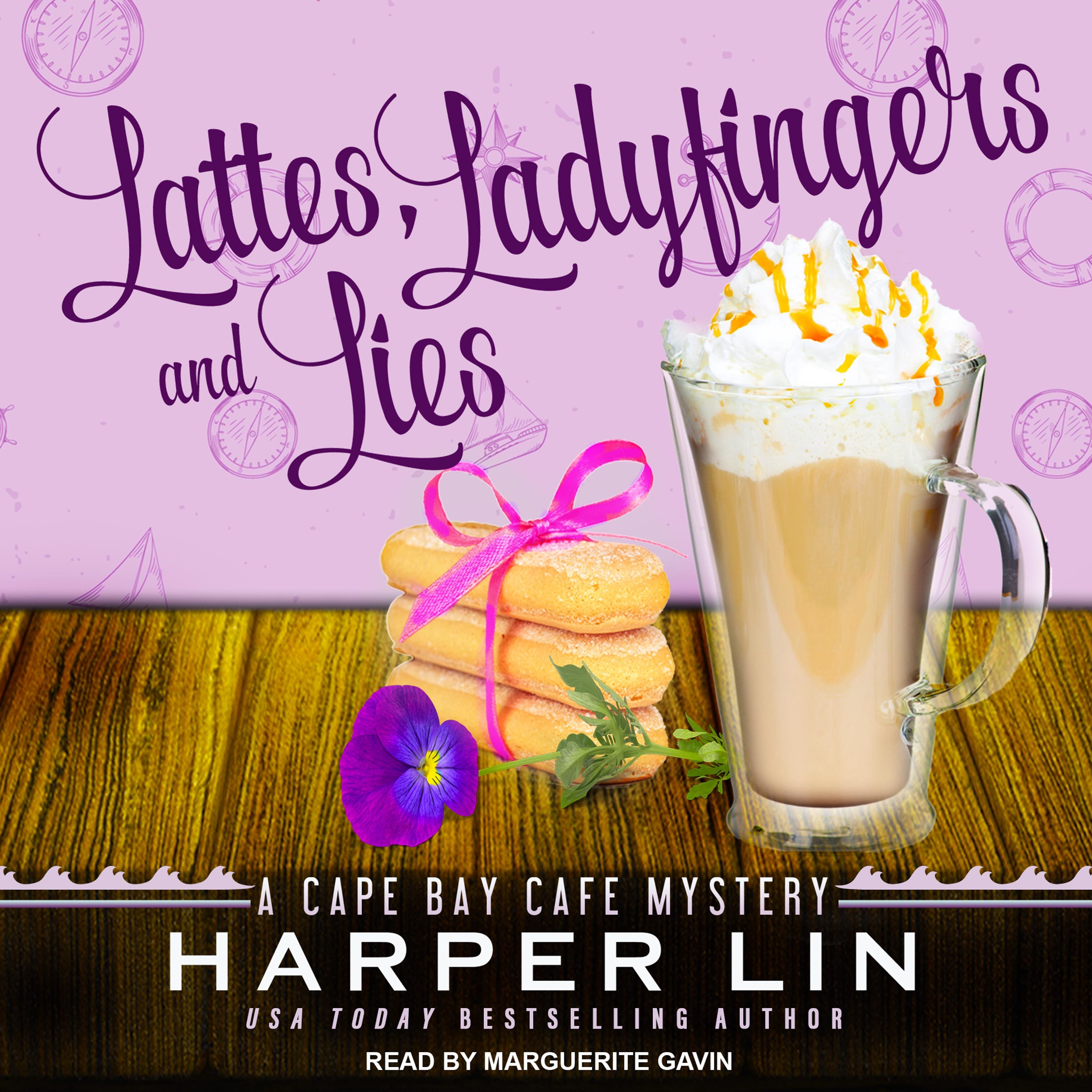 Printable Lattes, Ladyfingers, and Lies: A Cape Bay Cafe Mystery Audiobook Cover Art