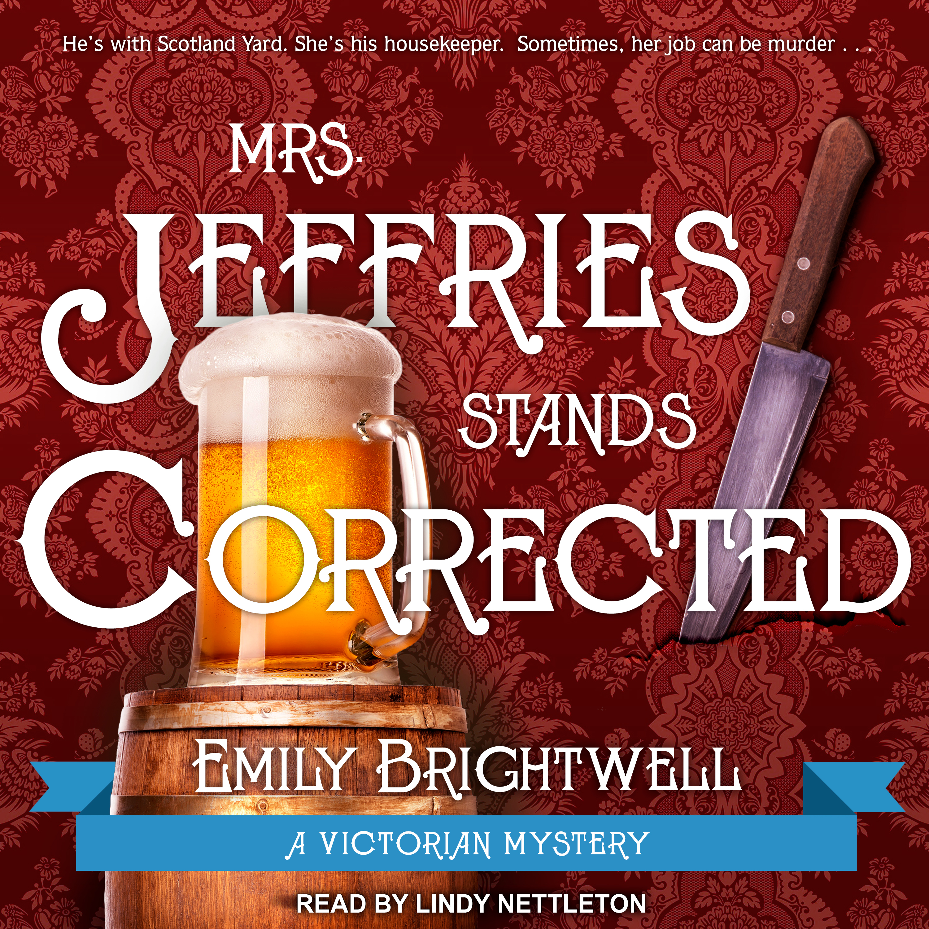 Printable Mrs. Jeffries Stands Corrected Audiobook Cover Art