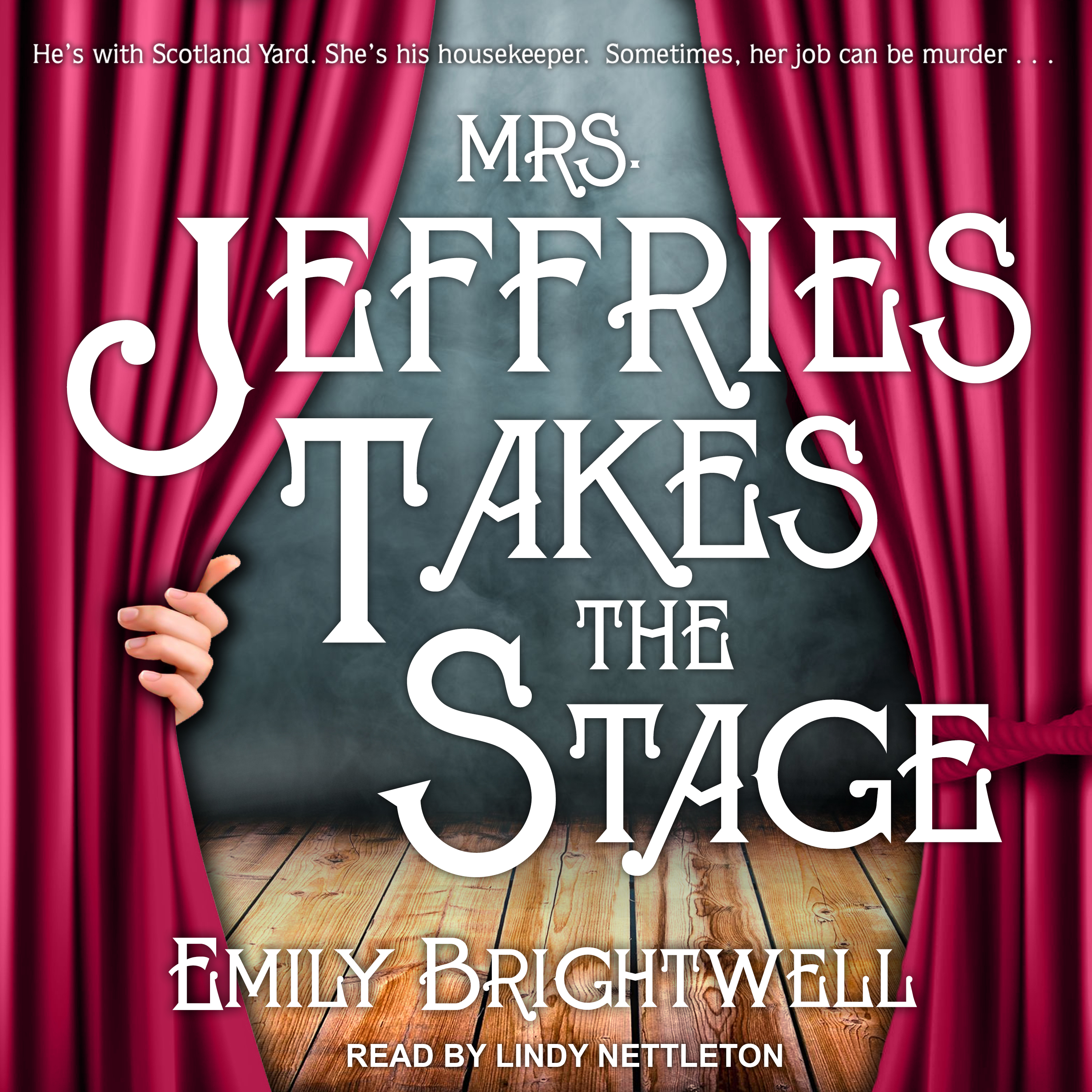 Printable Mrs. Jeffries Takes the Stage Audiobook Cover Art