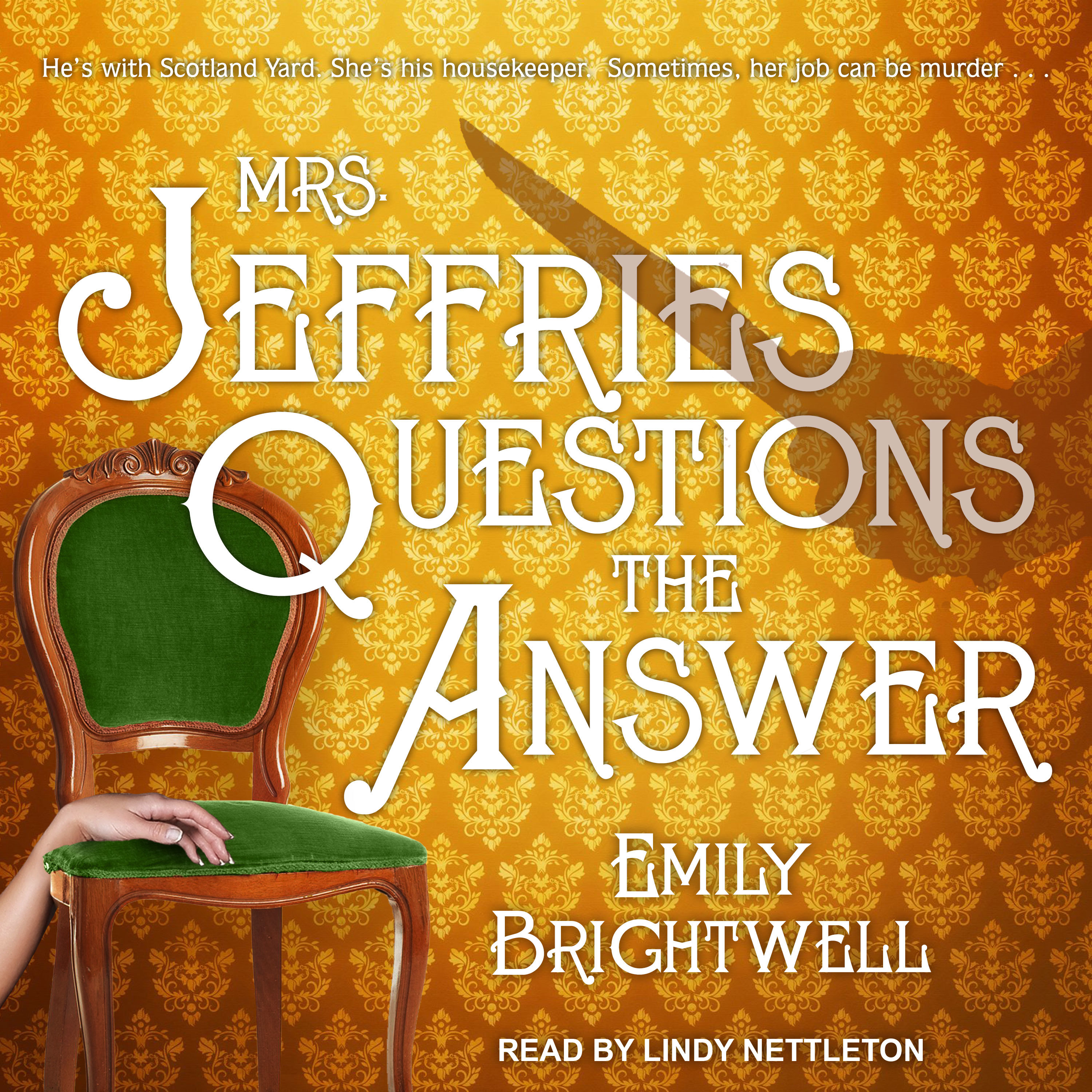 Printable Mrs. Jeffries Questions the Answer Audiobook Cover Art