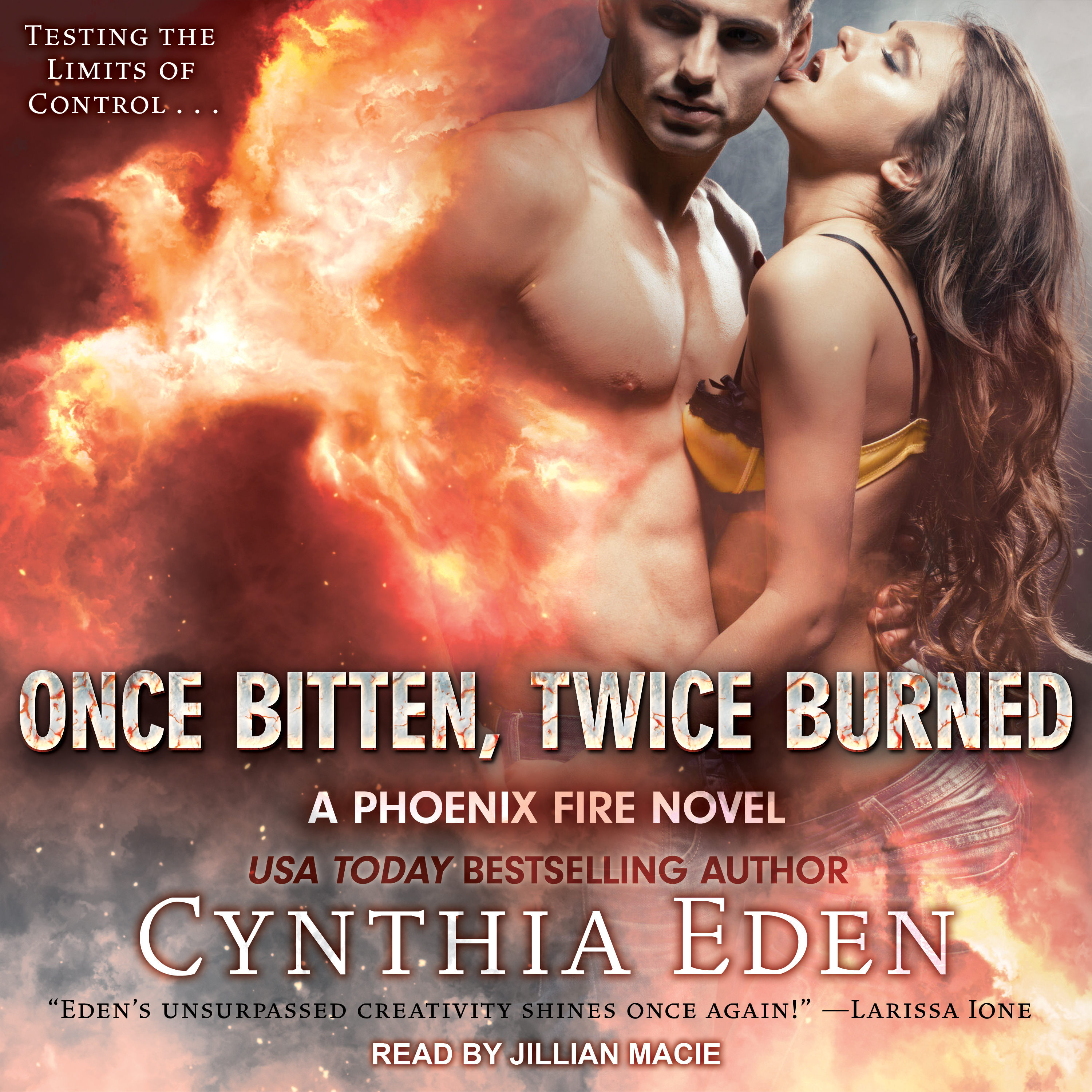 Printable Once Bitten, Twice Burned Audiobook Cover Art