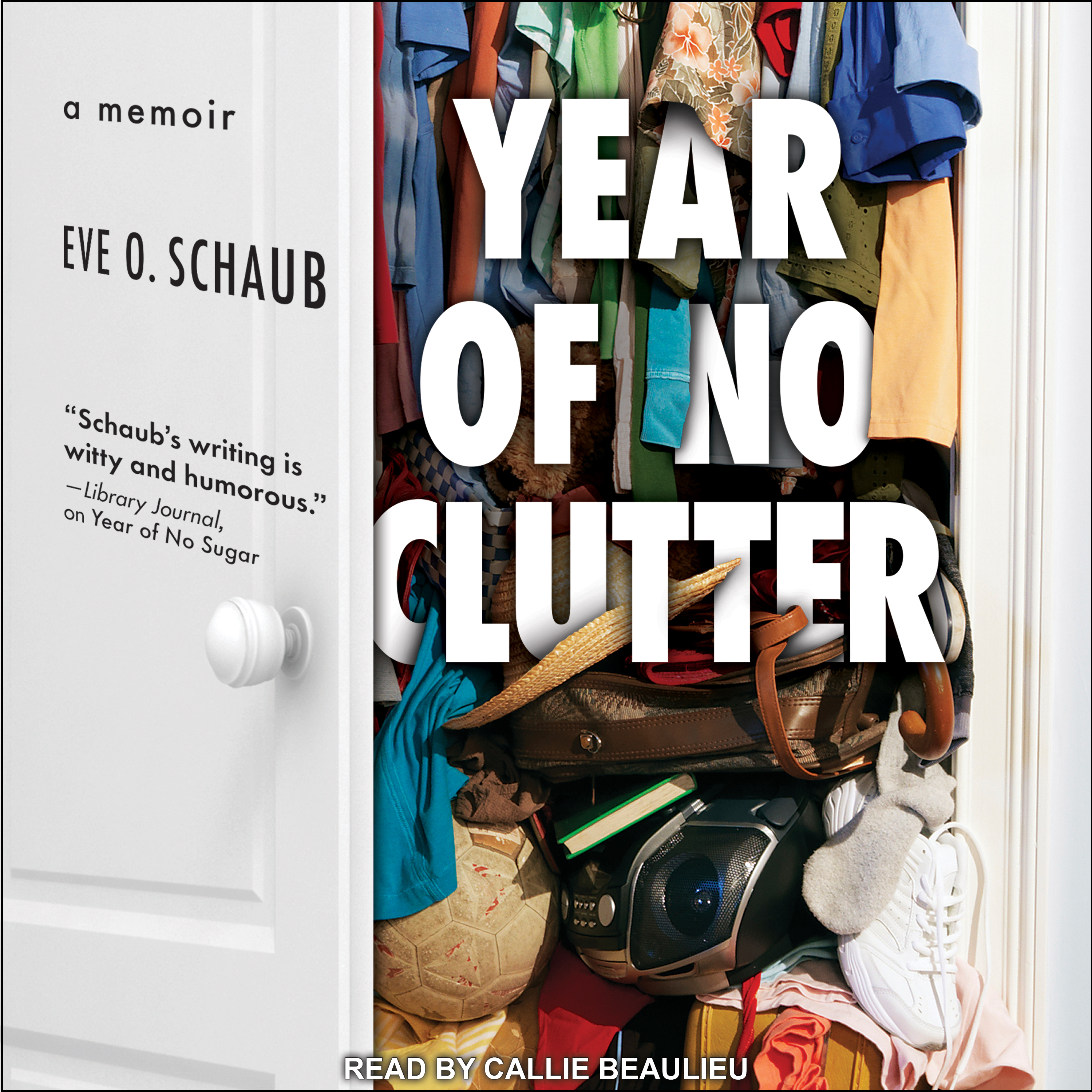 Printable Year of No Clutter: A Memoir Audiobook Cover Art