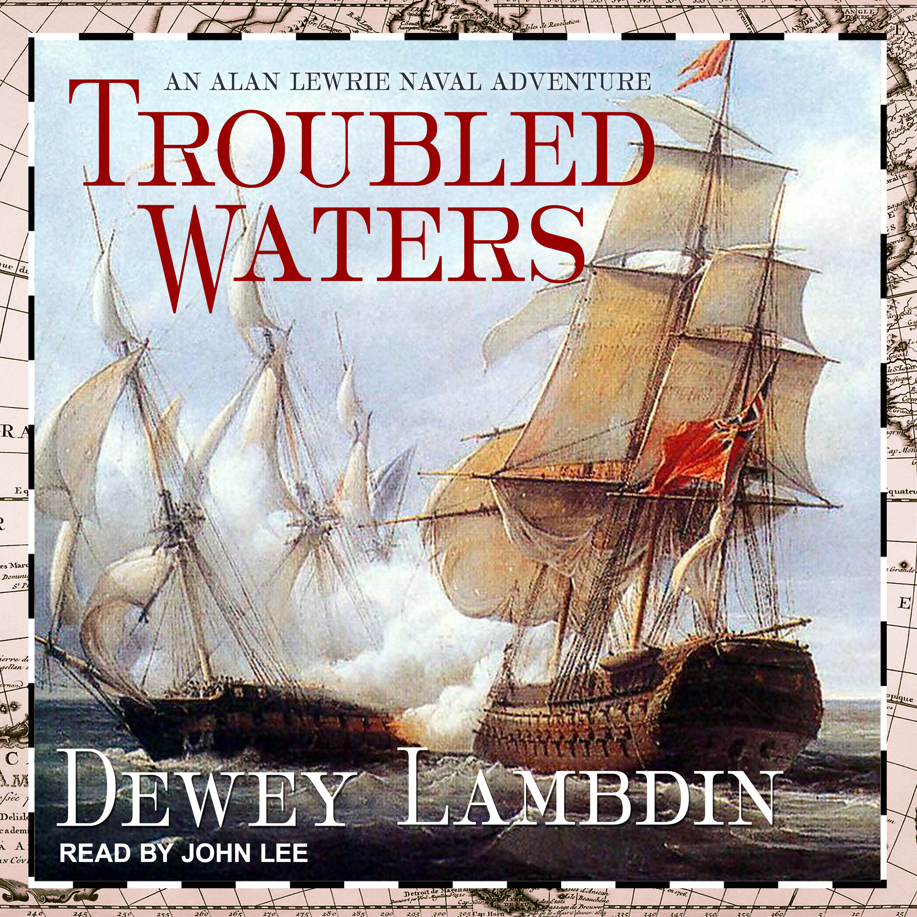 Printable Troubled Waters Audiobook Cover Art