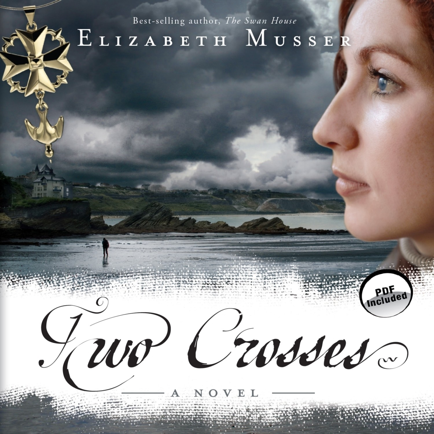 Printable Two Crosses: A Novel Audiobook Cover Art