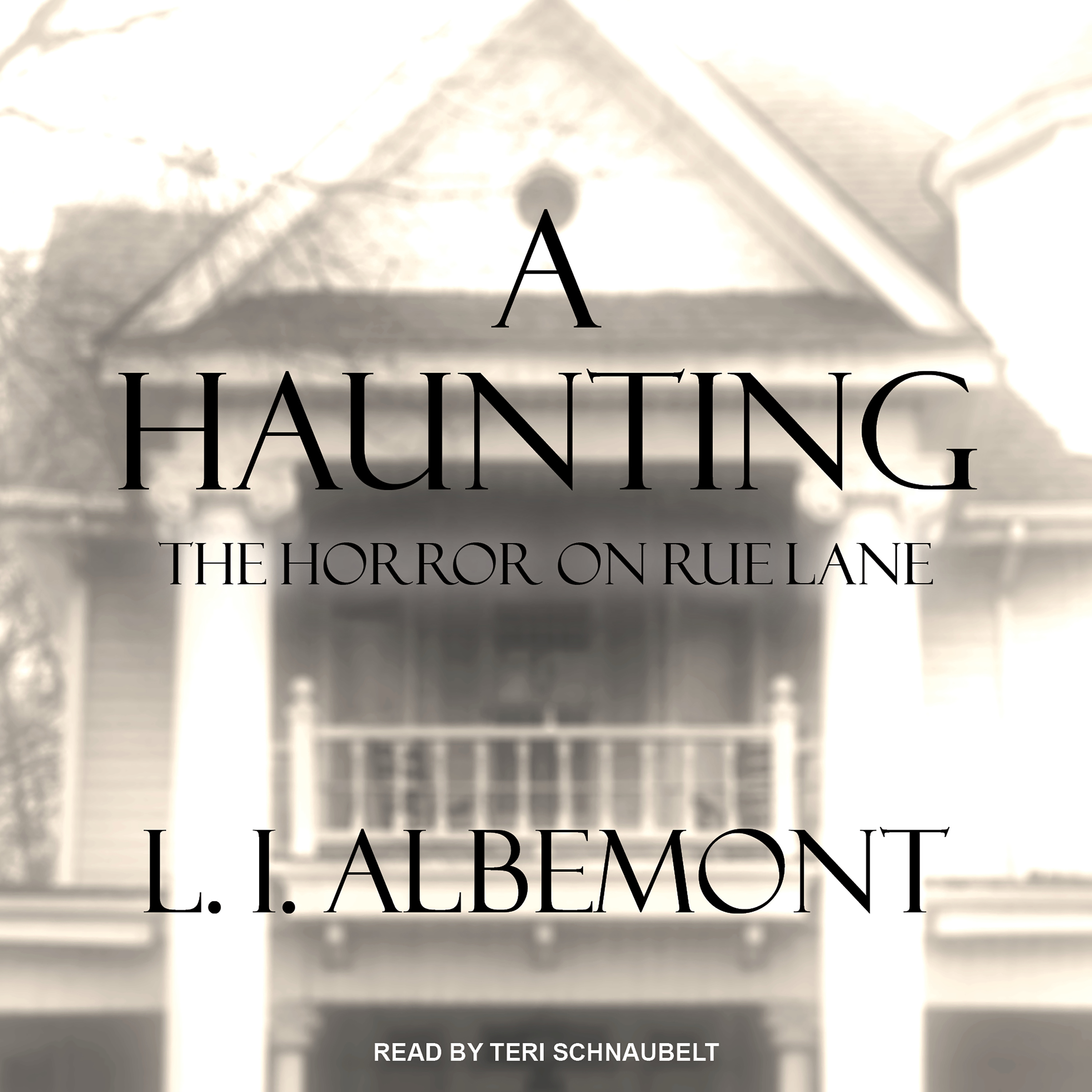 Printable A Haunting: The Horror on Rue Lane Audiobook Cover Art