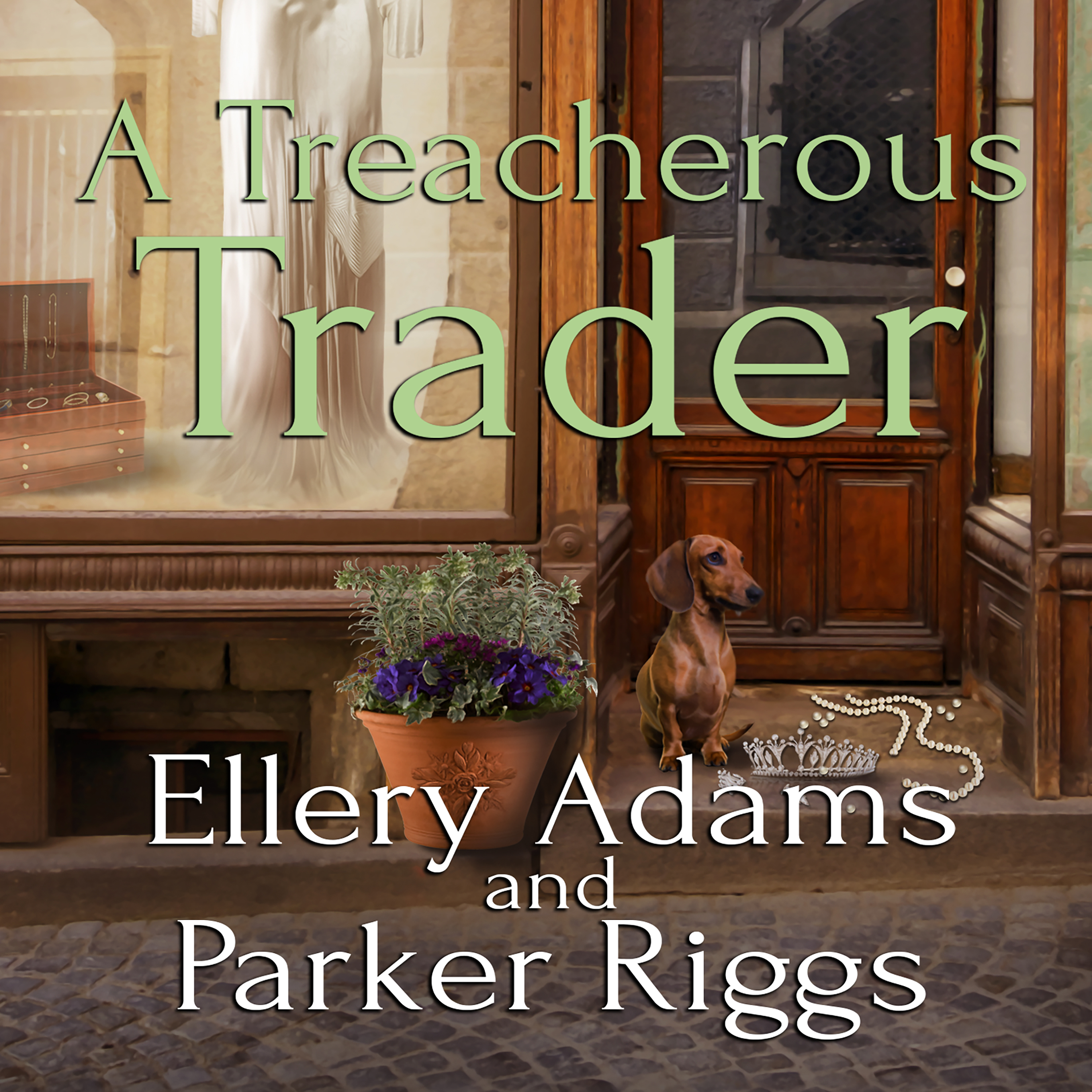 Printable A Treacherous Trader Audiobook Cover Art