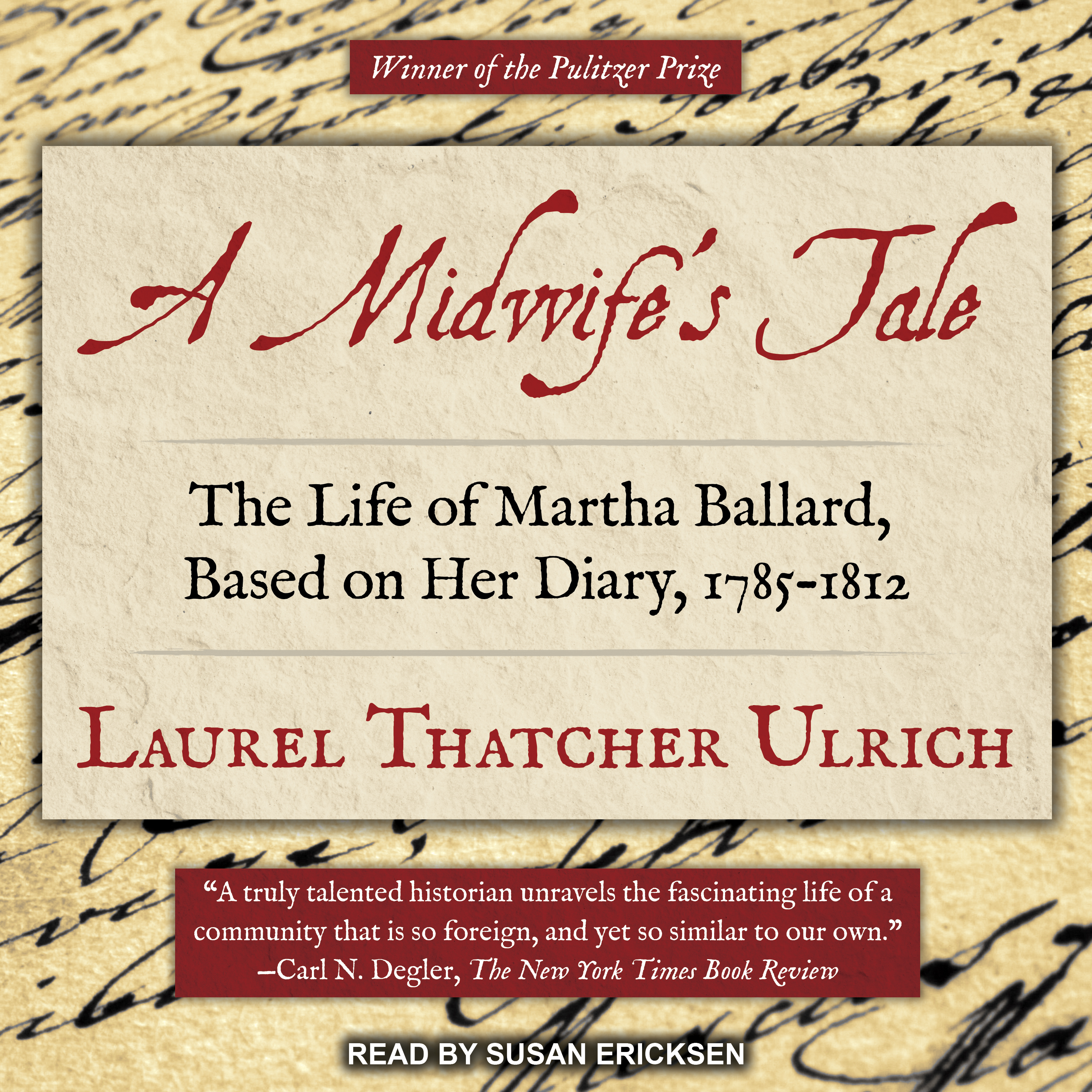 Printable A Midwife's Tale: The Life of Martha Ballard, Based on Her Diary, 1785-1812 Audiobook Cover Art