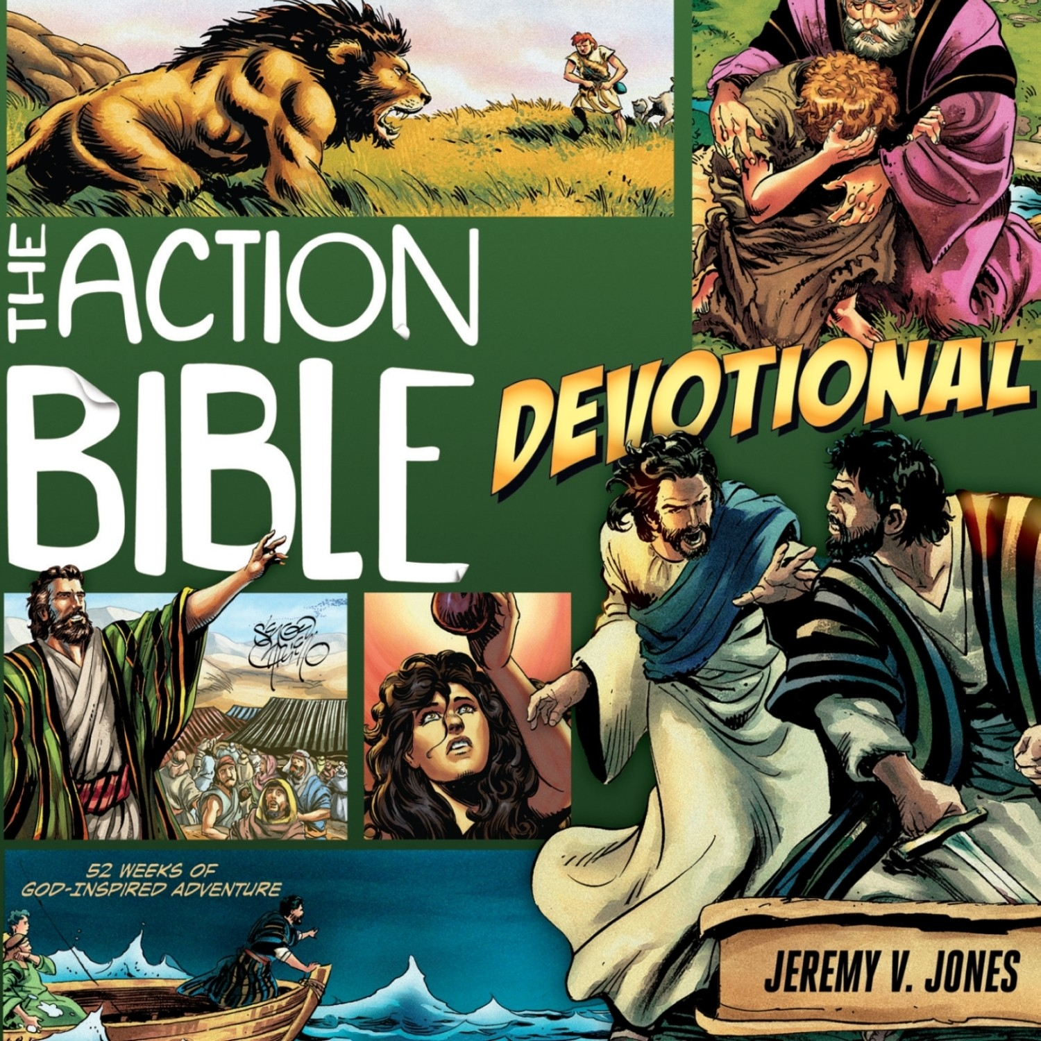 Printable The Action Bible Devotional: 52 Weeks of God-Inspired Adventure Audiobook Cover Art