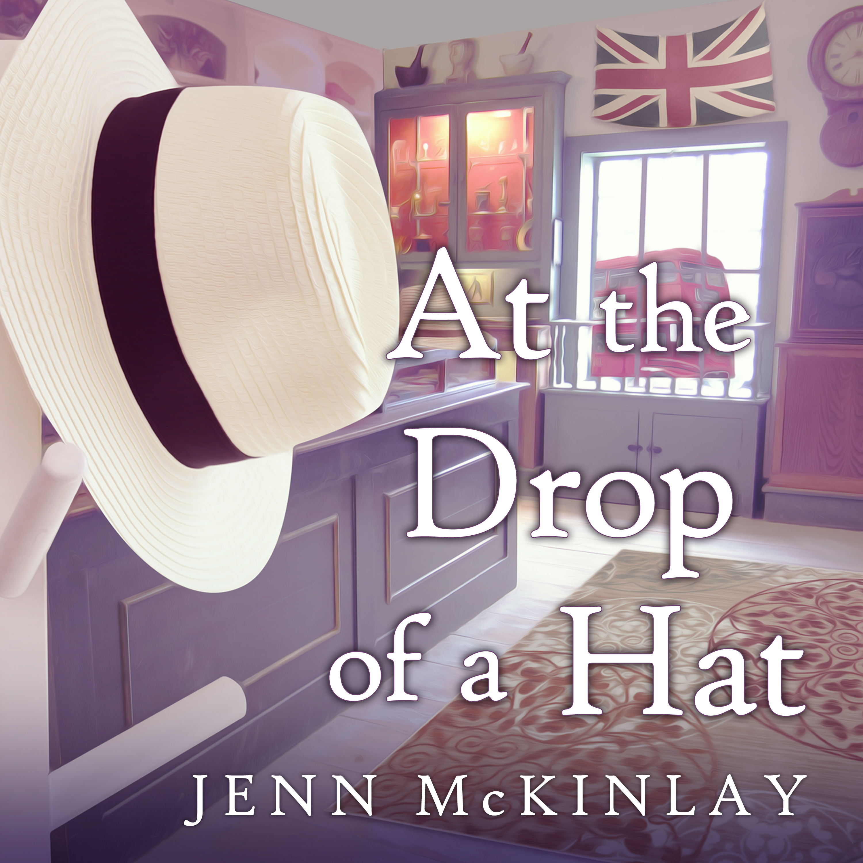 Printable At the Drop of a Hat Audiobook Cover Art