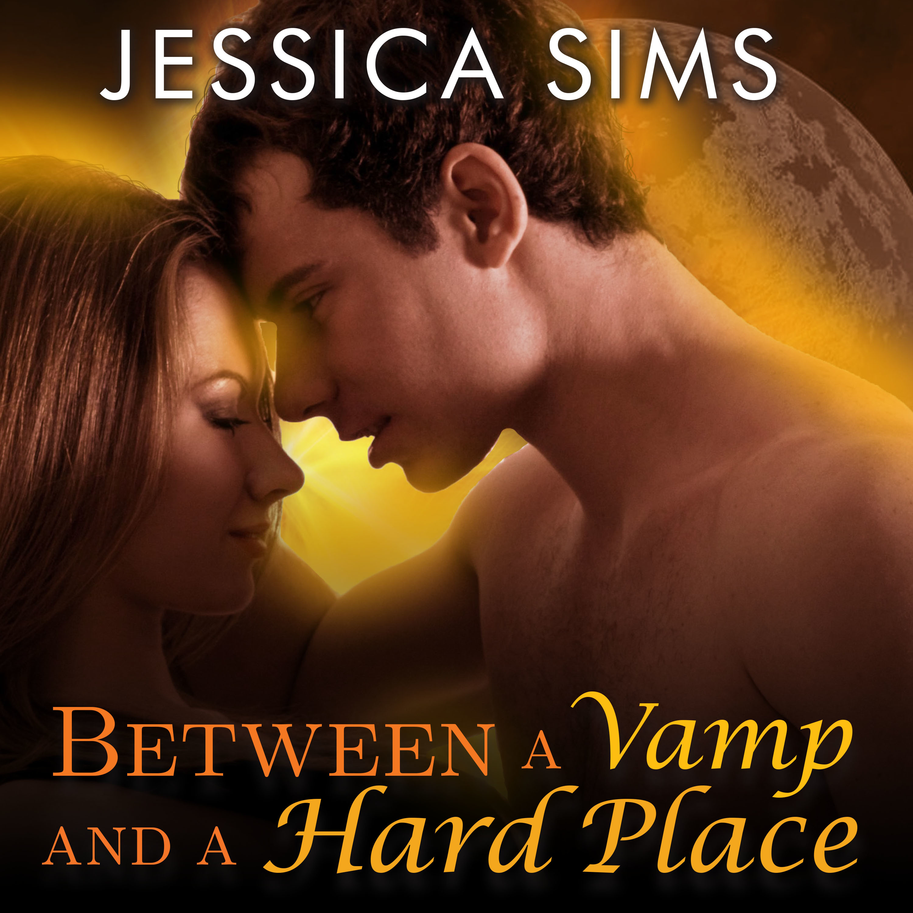 Printable Between a Vamp and a Hard Place Audiobook Cover Art