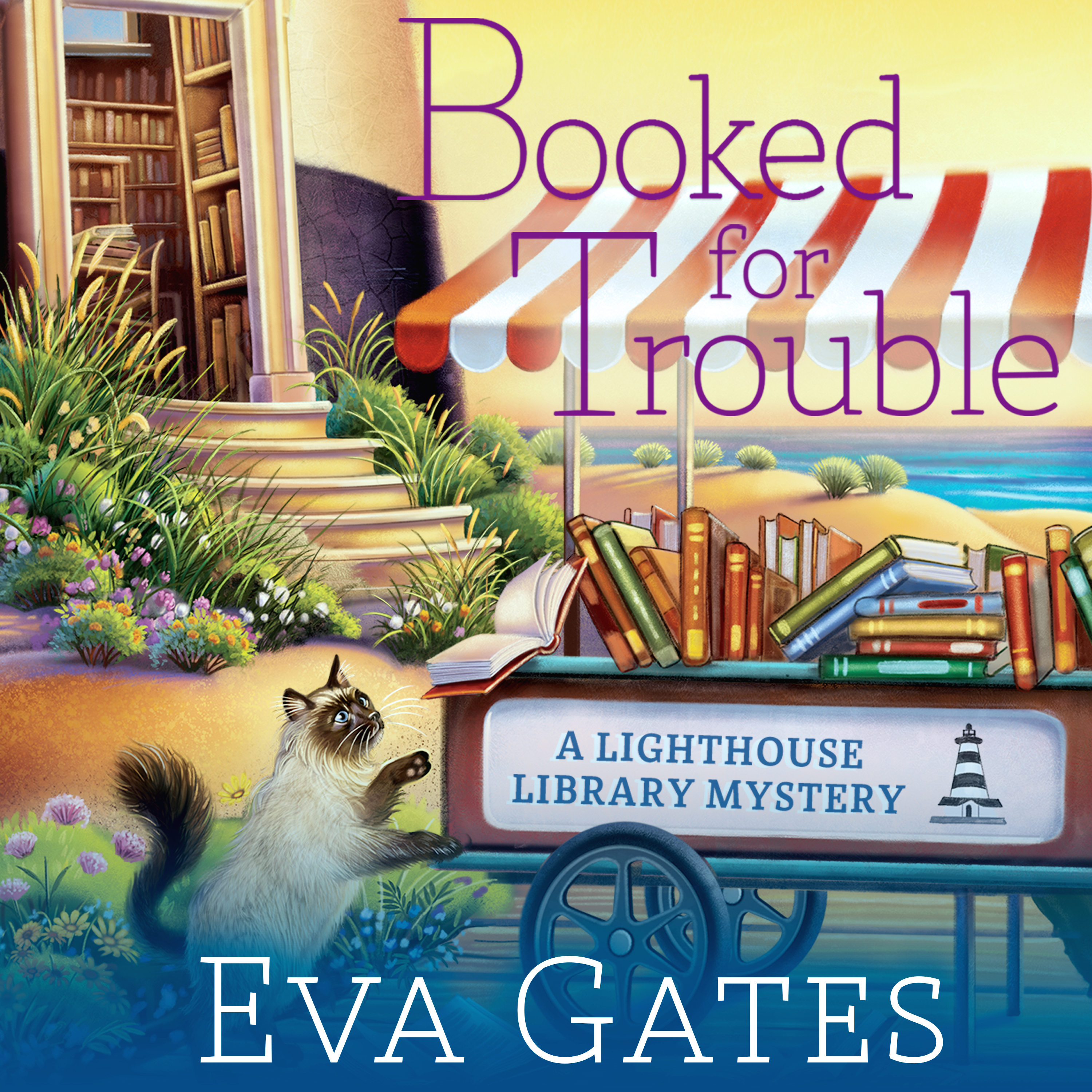 Printable Booked for Trouble Audiobook Cover Art
