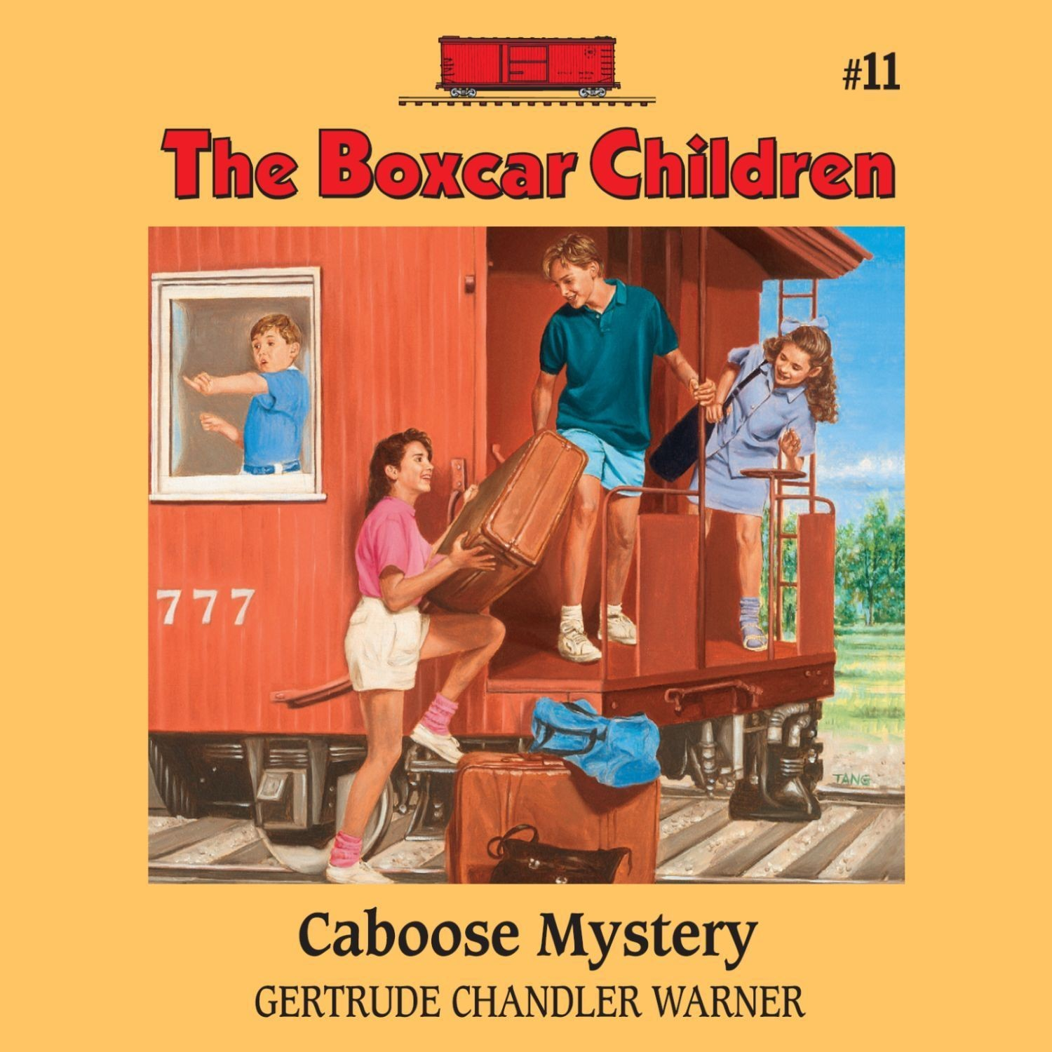 Printable Caboose Mystery Audiobook Cover Art