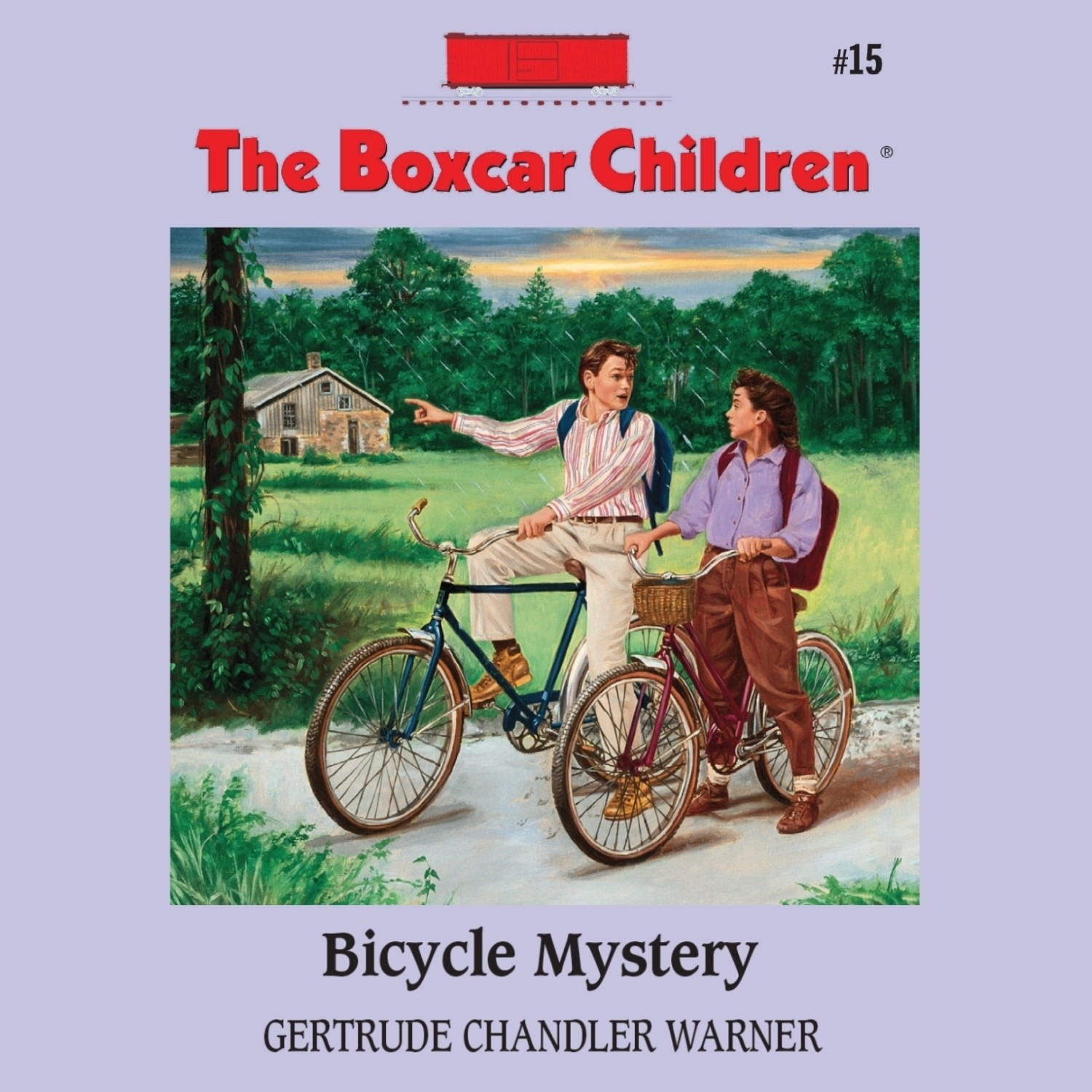Printable Bicycle Mystery Audiobook Cover Art