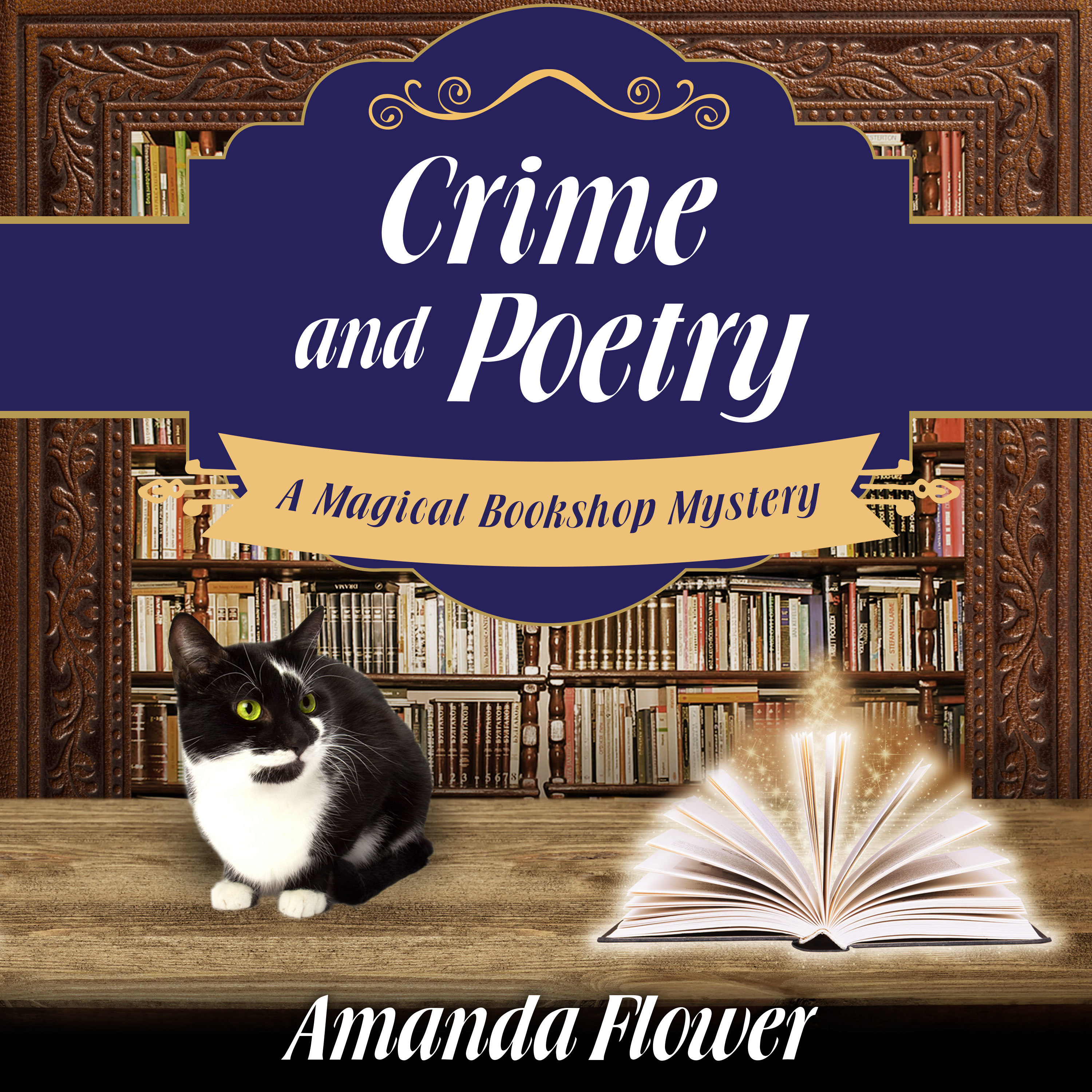 Printable Crime and Poetry Audiobook Cover Art