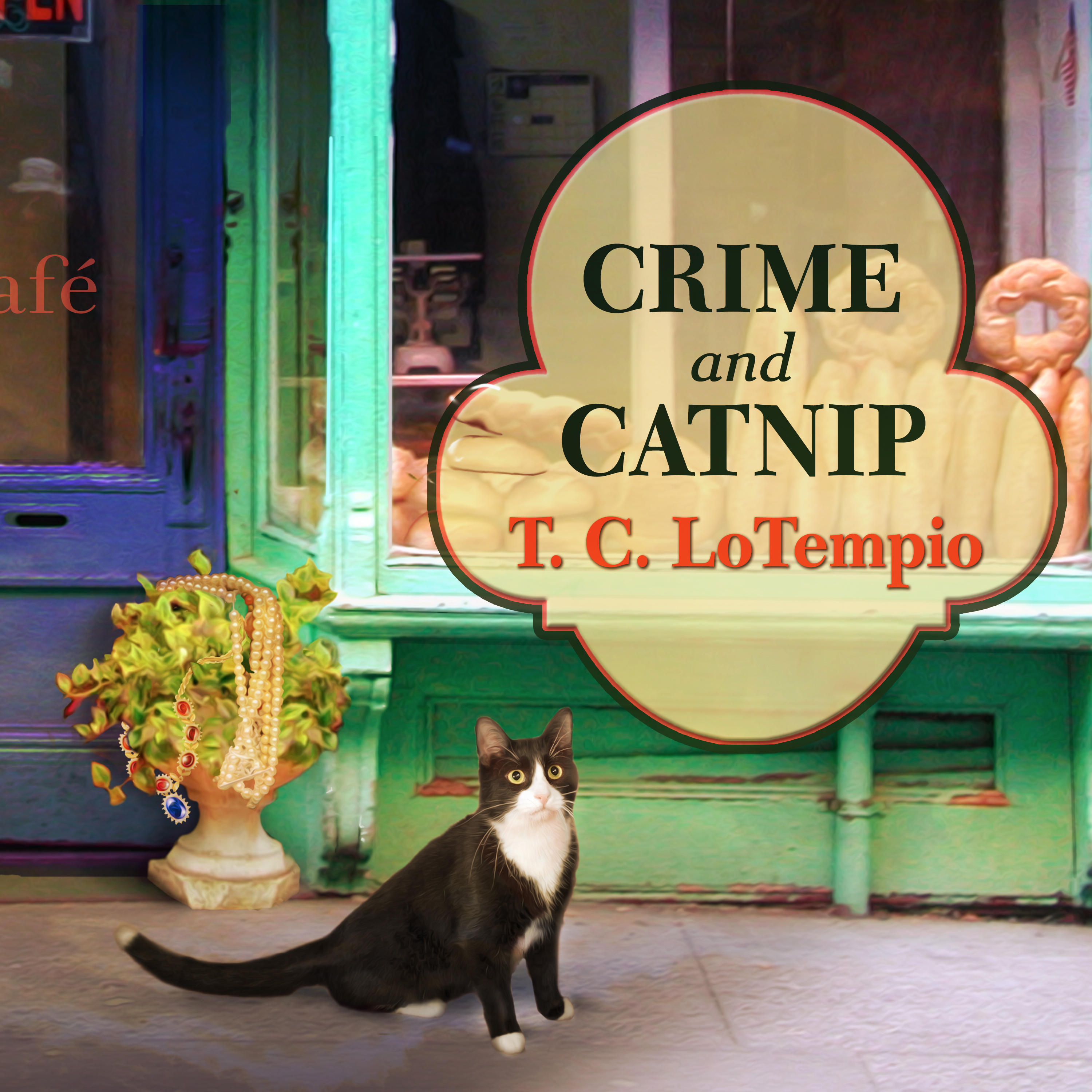 Printable Crime and Catnip Audiobook Cover Art
