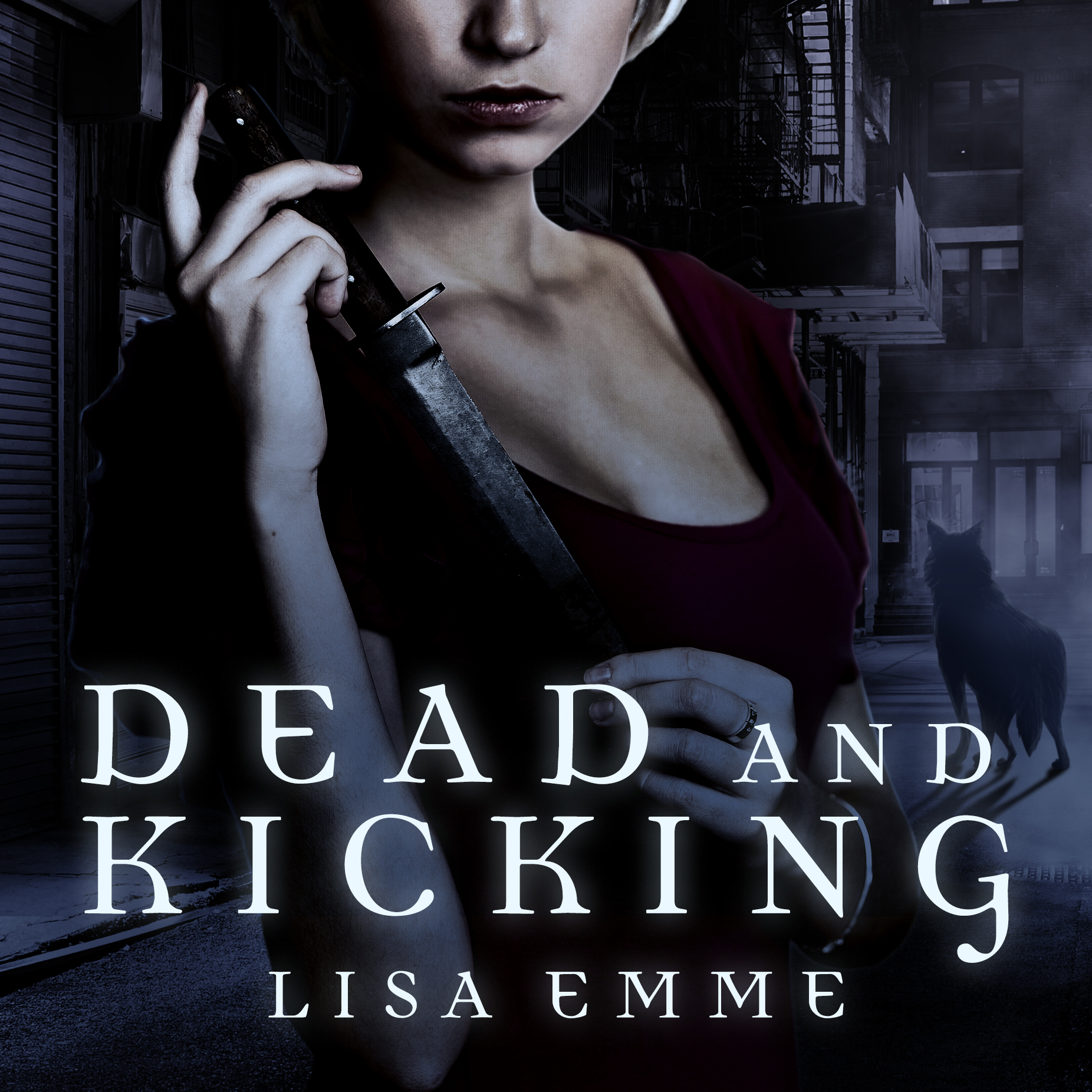 Printable Dead and Kicking Audiobook Cover Art